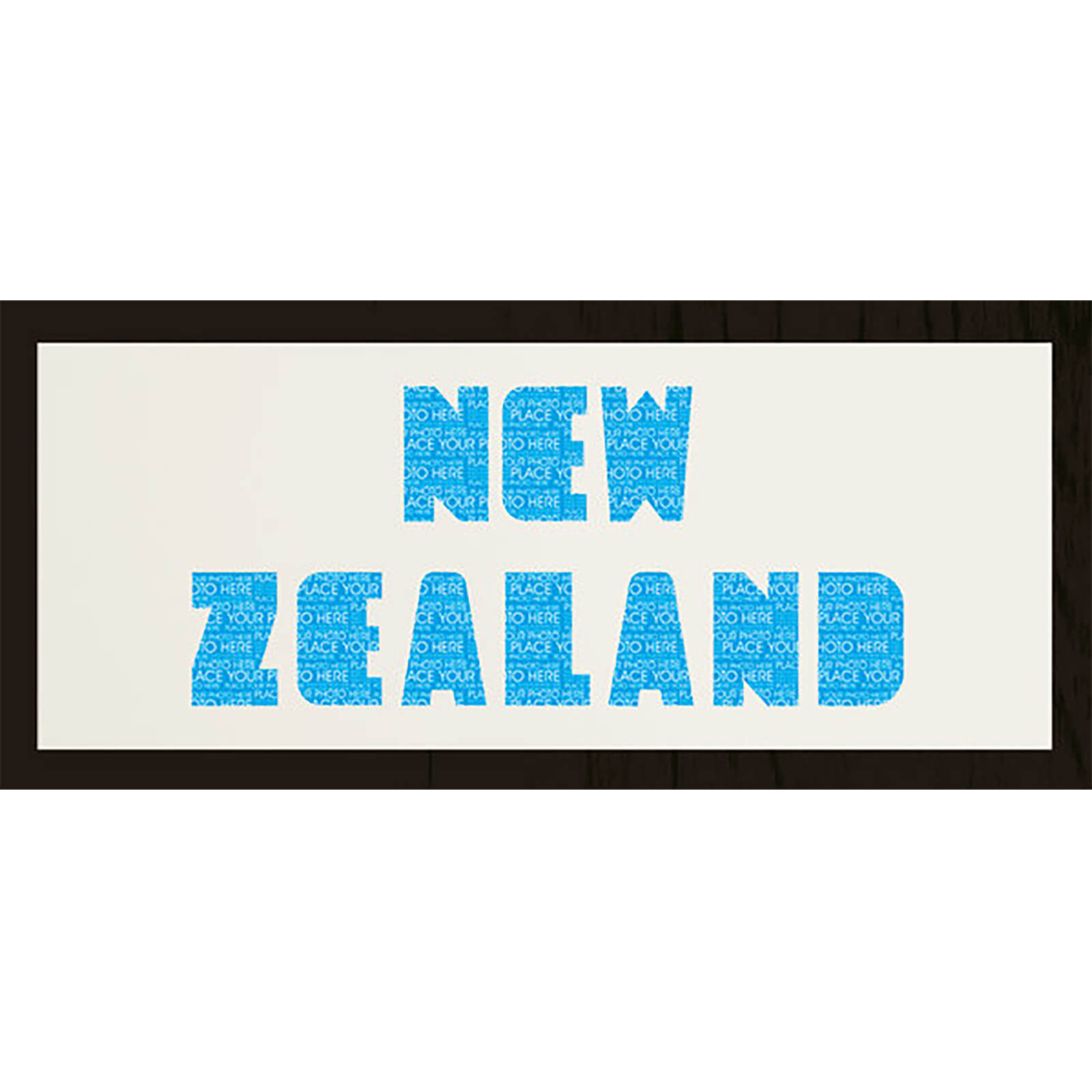 "GB Cream Mount New Zealand Photo Font - Framed Mount - 12"""" x 30"""