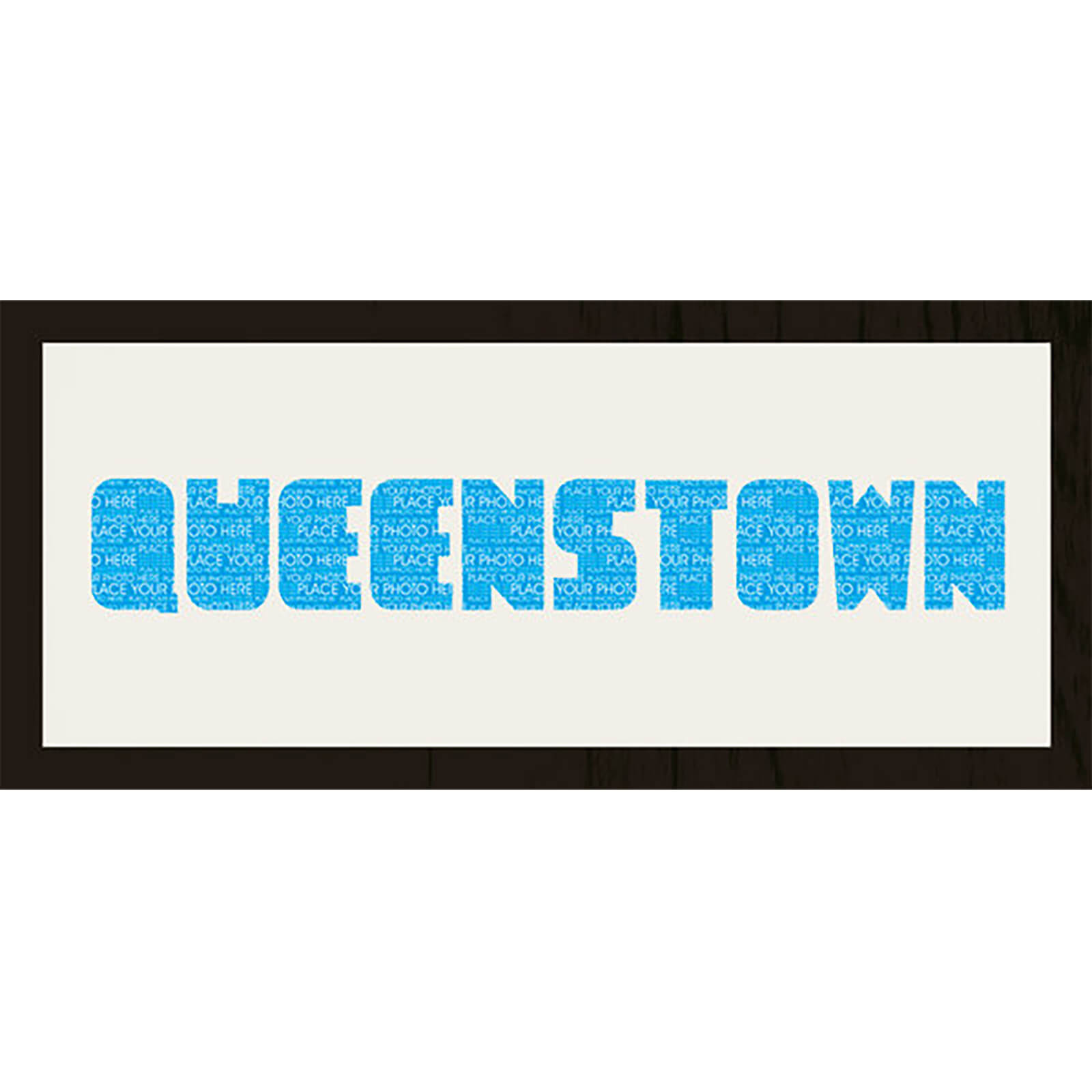 "GB Cream Mount Queenstown Photo Font - Framed Mount - 12"""" x 30"""