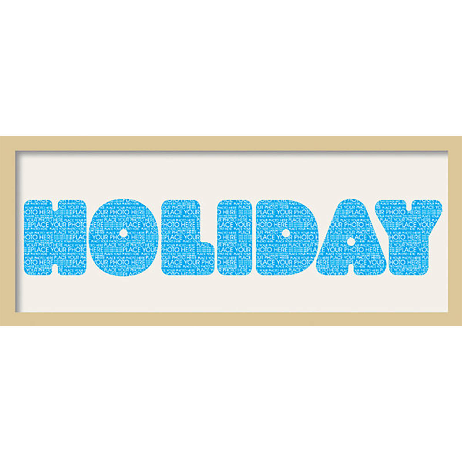 "GB Cream Mount Holiday Fatty Font - Framed Mount - 12"""" x 30"""
