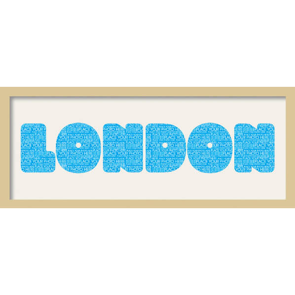 "GB Cream Mount London Fatty Font - Framed Mount - 12"""" x 30"""
