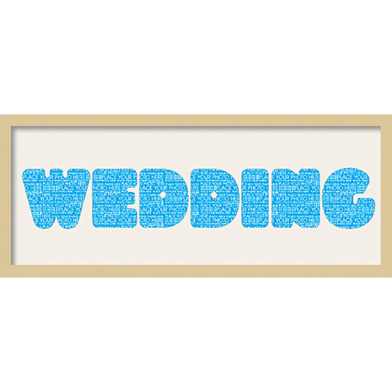 "GB Cream Mount Wedding Fatty Font - Framed Mount - 12"""" x 30"""