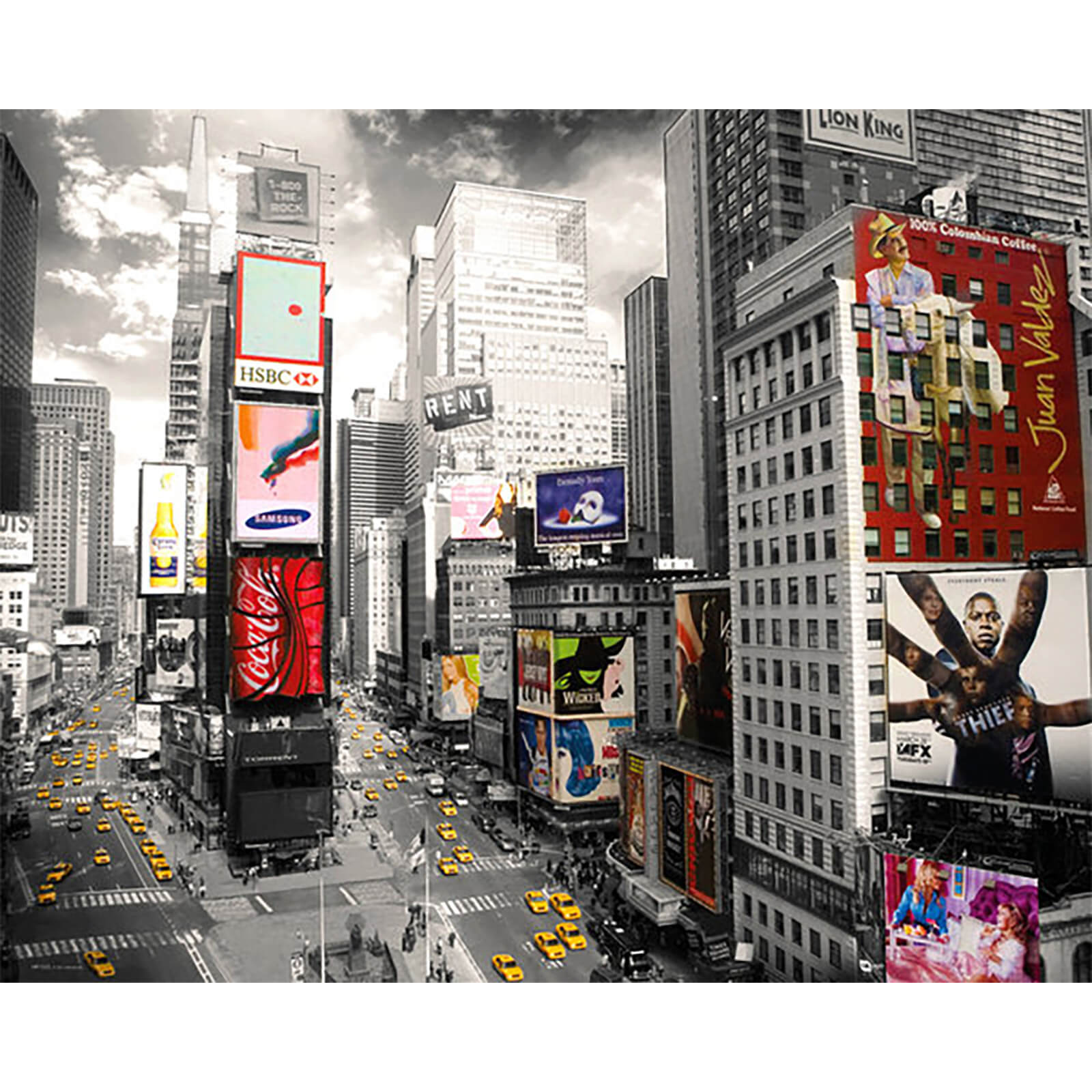 New York Times Square 2 - Mini Poster - 40 x 50cm