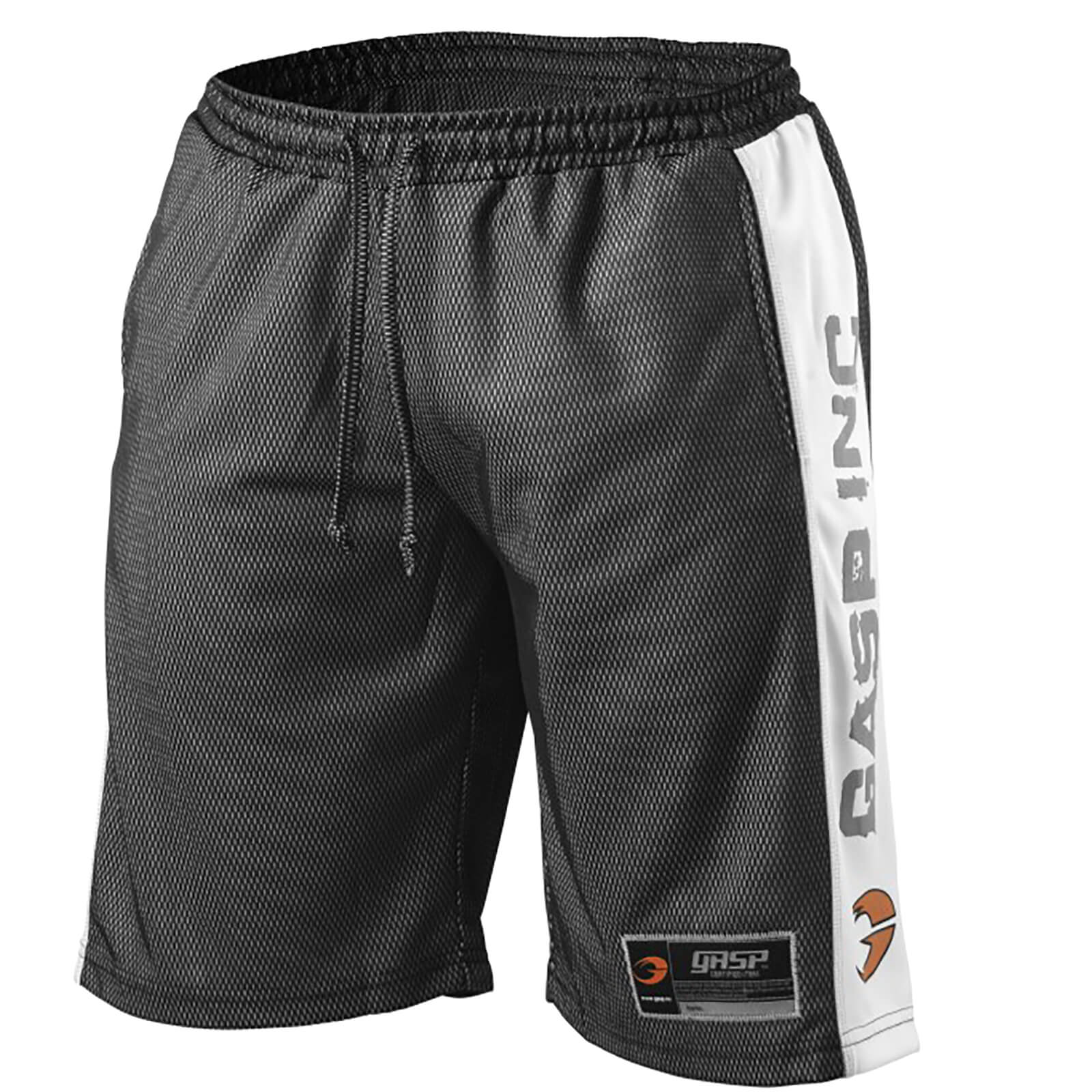 GASP No1 Mesh Shorts - Black/White - XL