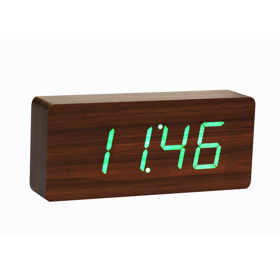 Platte Walnuss Click Clock