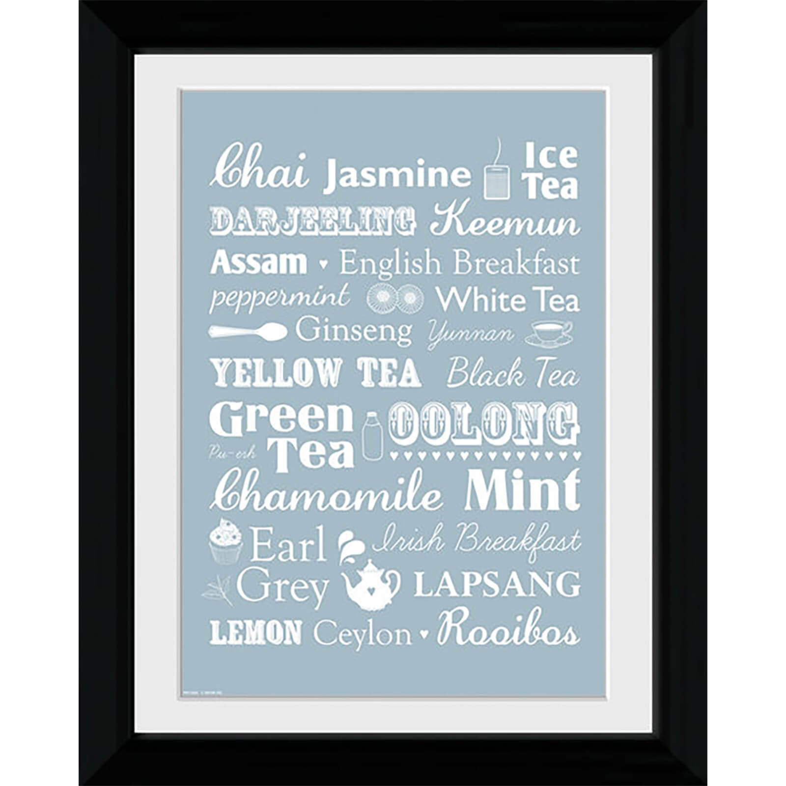 Tea Types - Collector Print - 30 x 40cm