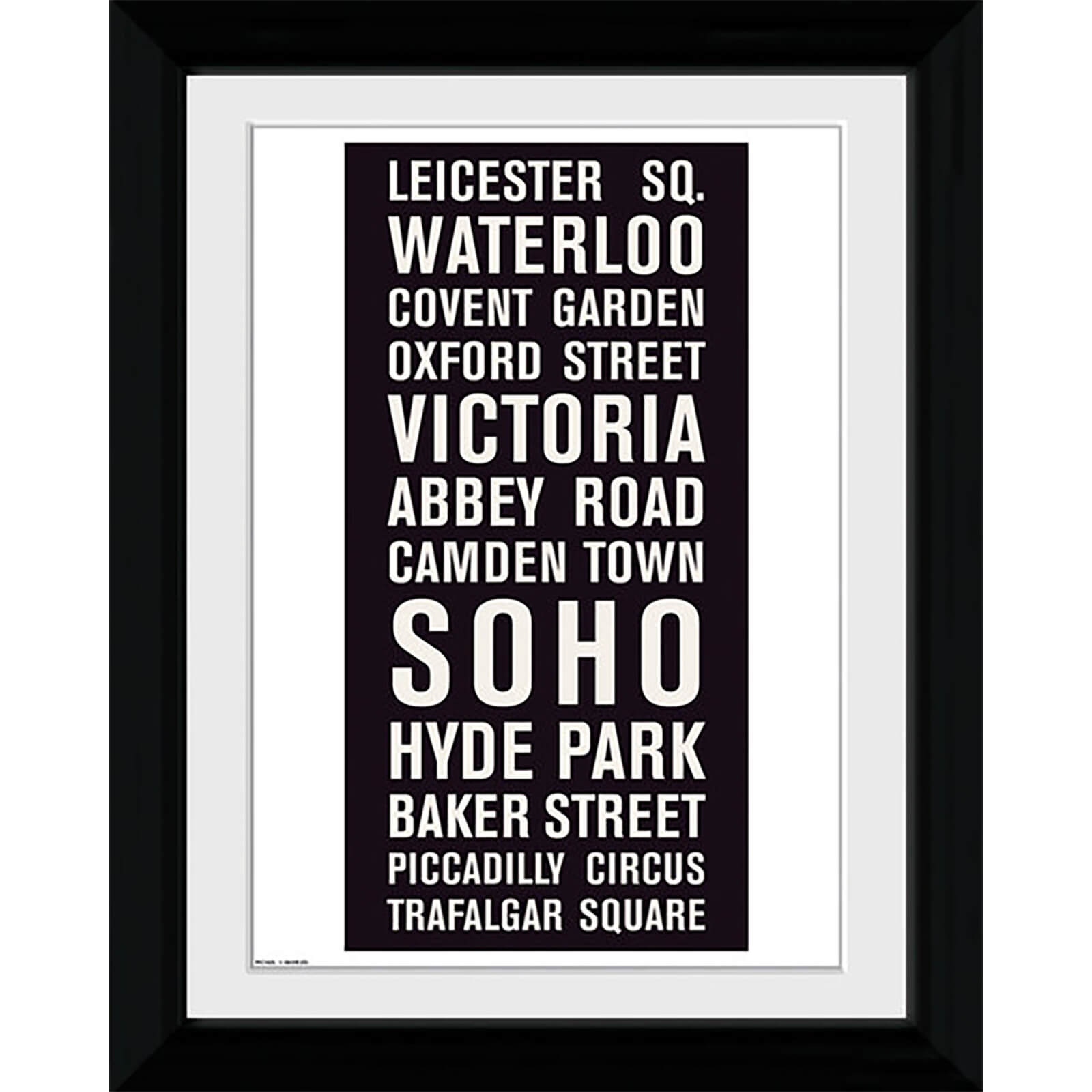 London Locations - Collector Print - 30 x 40cm
