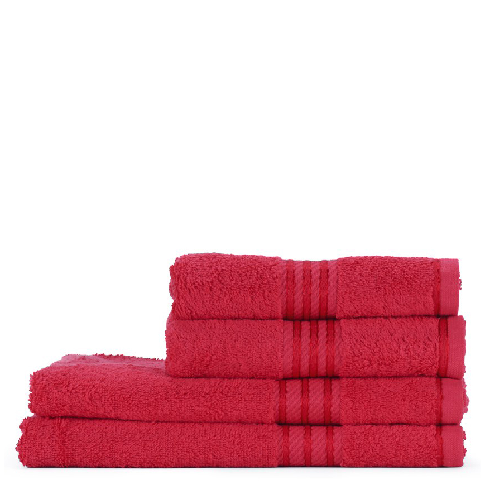 Restmor 100% Egyptian Cotton 4 Piece Supreme Towel Bale Set (500gsm) - Red