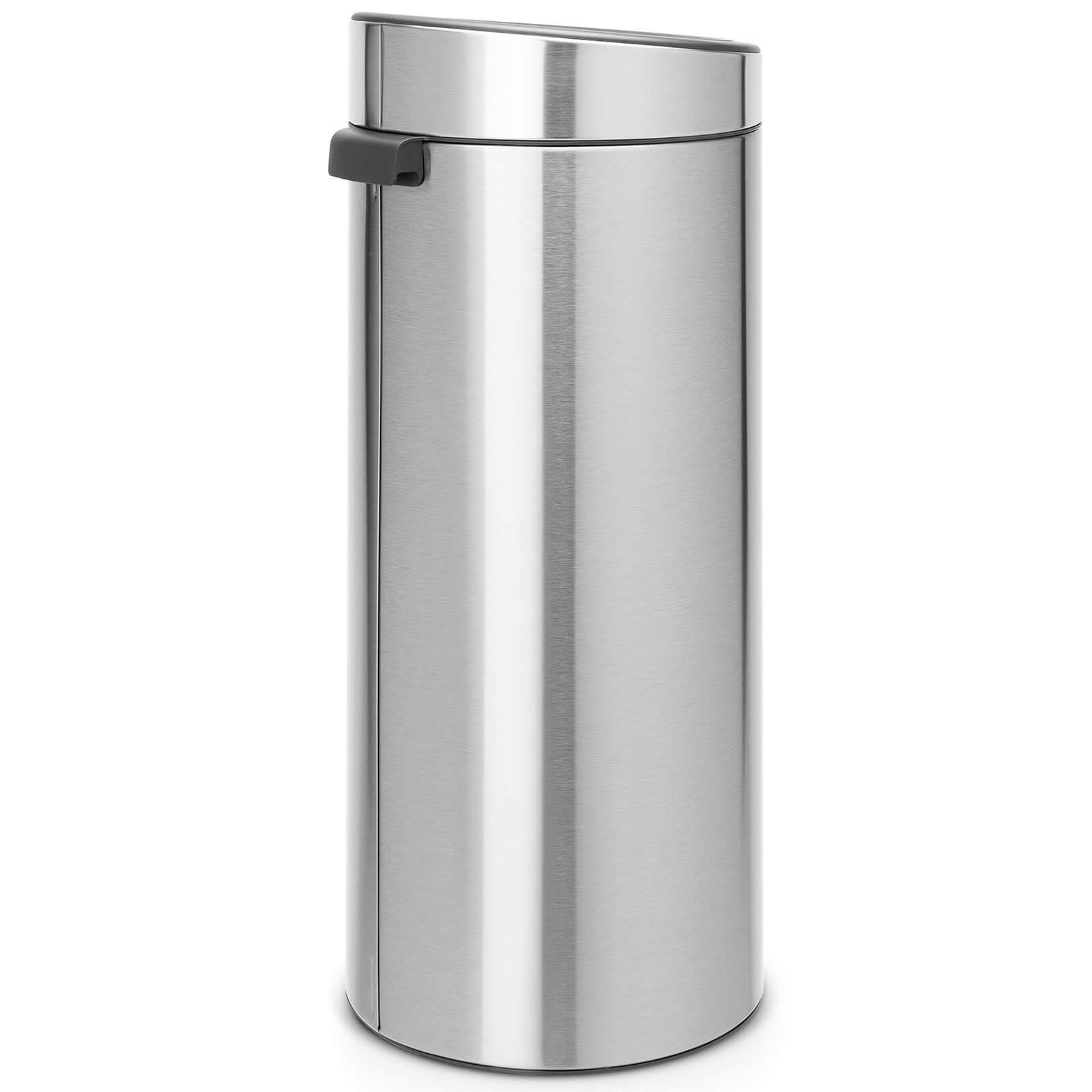 Brabantia 30 Liter Touch Bin.Brabantia 30 Litre Fingerprint Proof Touch Bin Matt Steel
