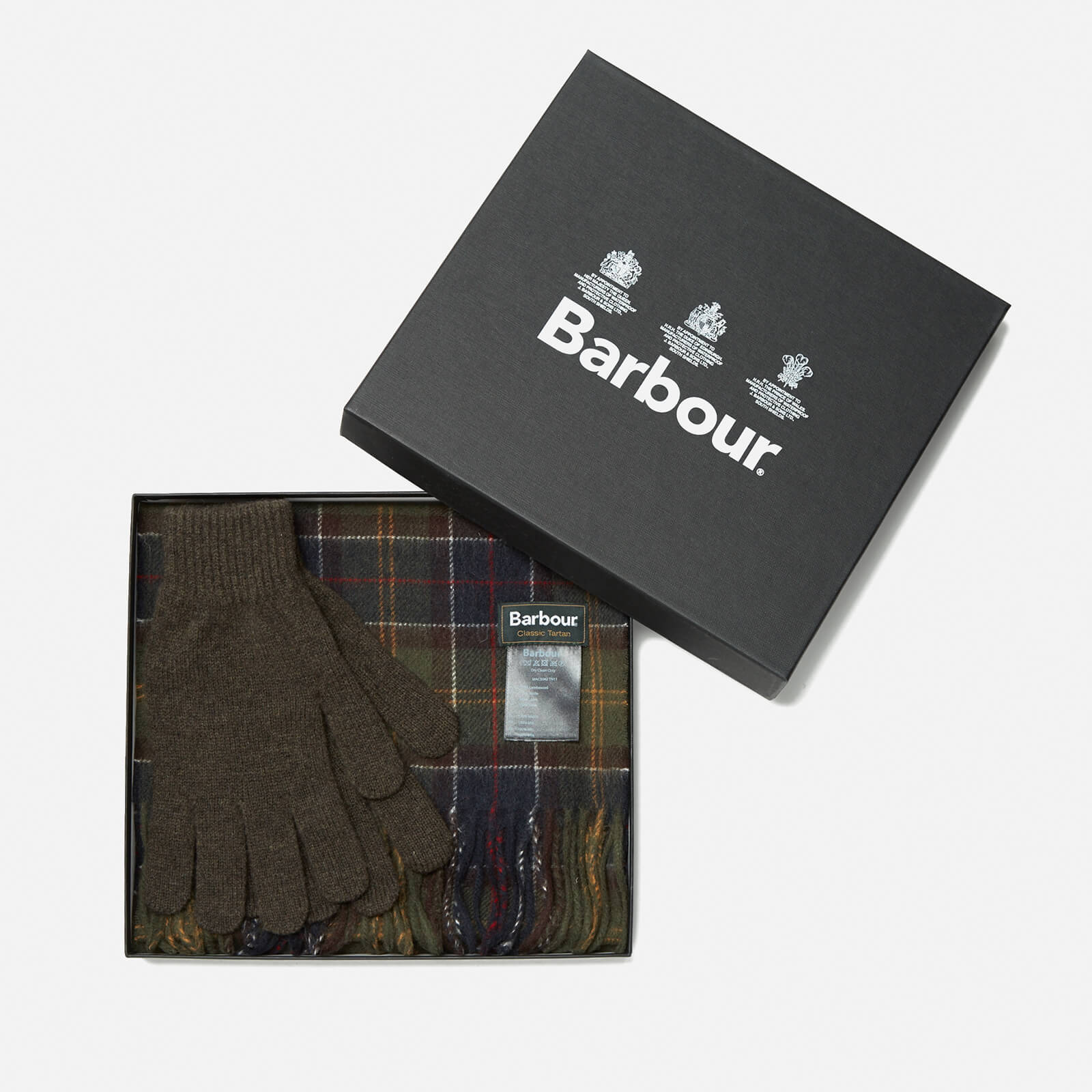 6cd112bb2 Barbour Men's Scarf And Glove Gift Set - Classic/Olive