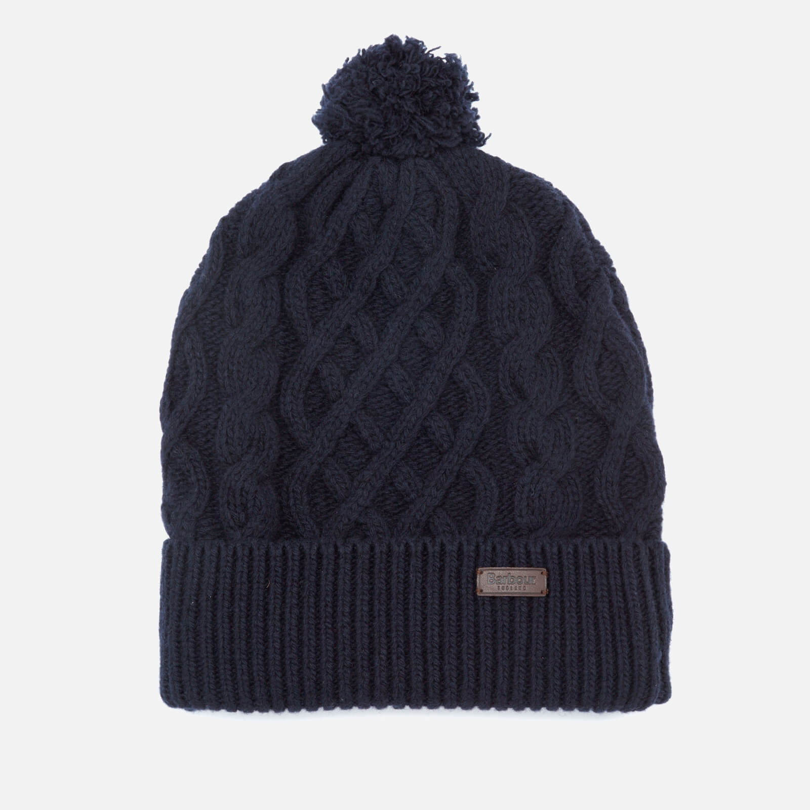 5a3cdfa93e5 Barbour Cable Knit Beanie Hat - Navy - Free UK Delivery over £50