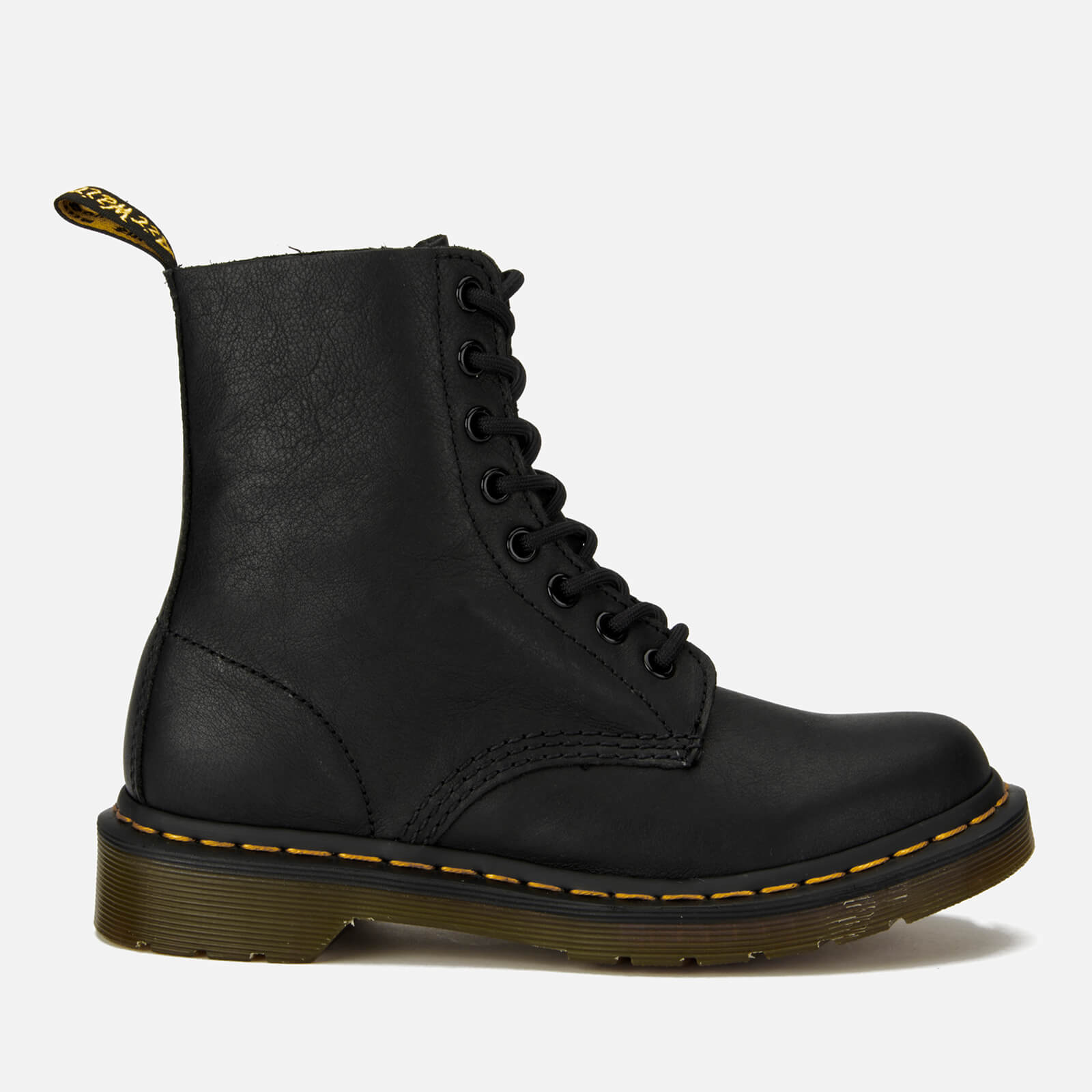 Dr. Martens Women's 1460 Pascal Virginia Leather 8-Eye Boots - Black - UK 8 - Black