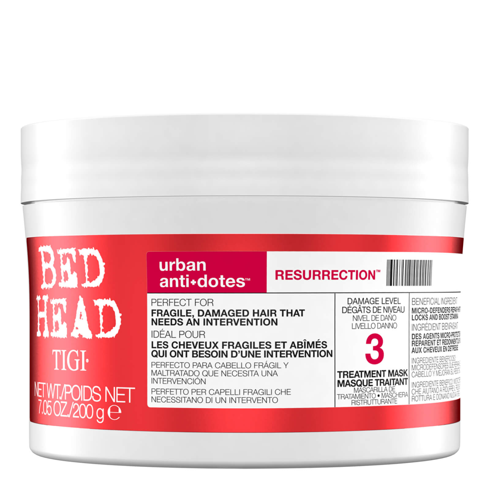 Maschera Tigi Bed Head Urban Antidotes Resurrection Trattamento 200 G