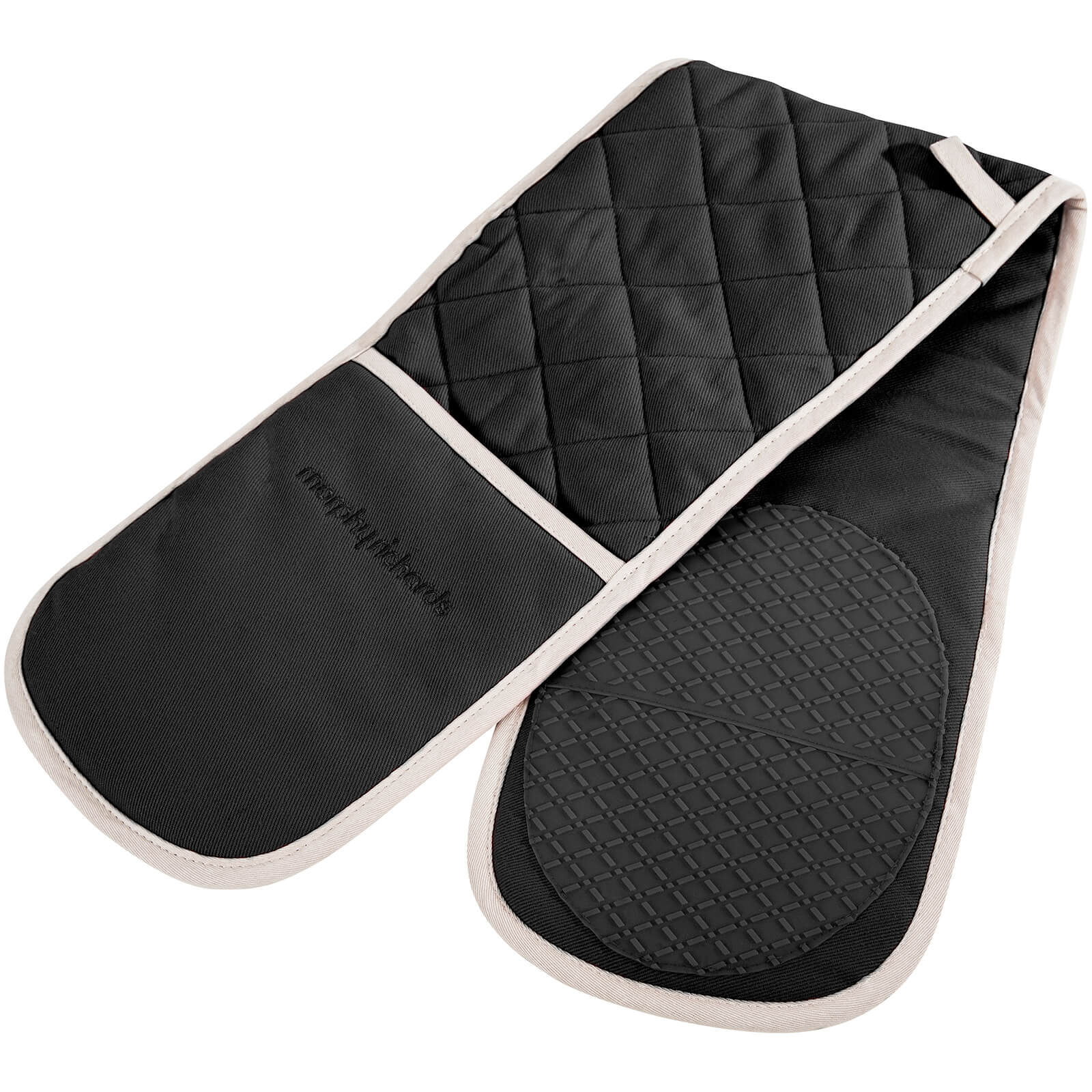 Morphy Richards 973512 Double Oven Glove - Black - 18x88cm