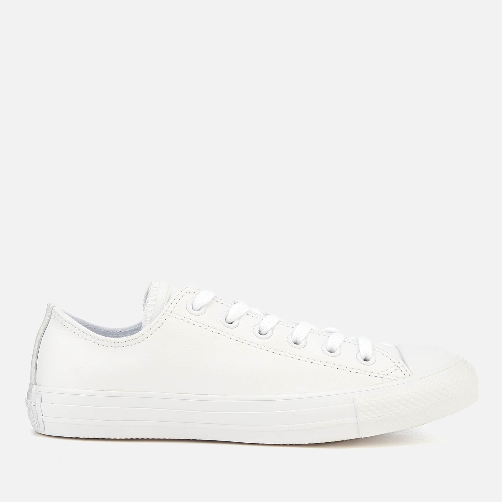 9efe611d9fabc2 Converse Chuck Taylor All Star Ox Leather Trainers - White Monochrome Mens  Footwear