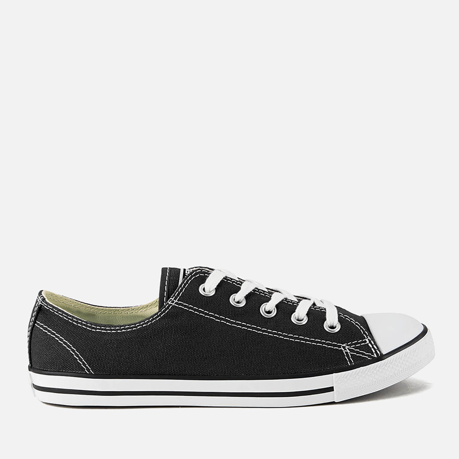3b253ae39b2592 Converse Women s Chuck Taylor All Star Dainty OX Trainers - Black Womens  Footwear
