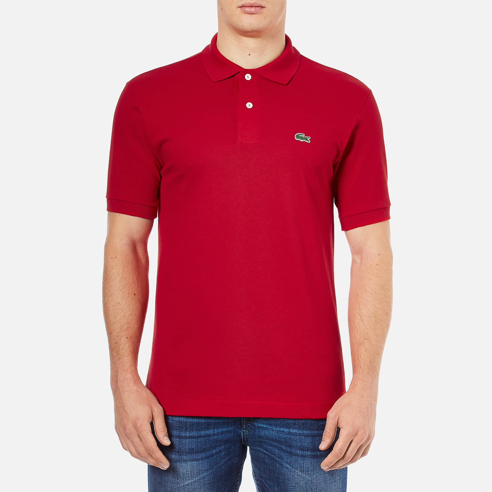 ba85e6d5c87c8 Lacoste Men s Basic Pique Short Sleeve Polo Shirt - Red - Free UK Delivery  over £50