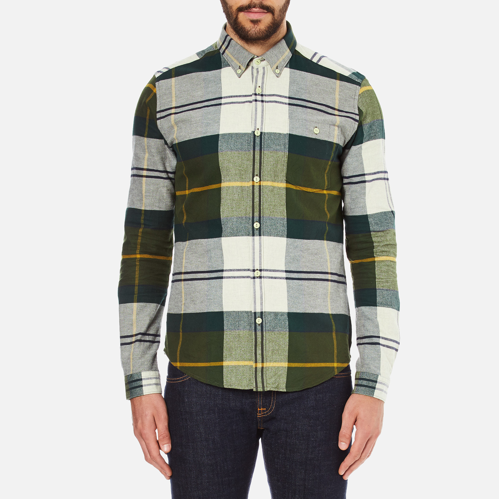 1037f10b25a7b Barbour Men's Johnny Original Tartan Long Sleeve Shirt - Ancient