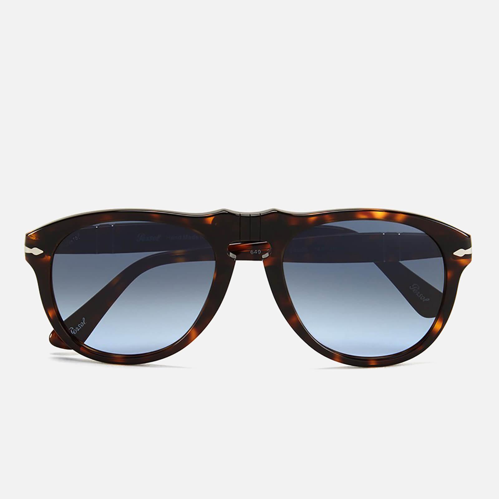 7dd87f1fc0a60 Persol D-Frame Men s Sunglasses - Havana with Sky Lenses - Free UK ...