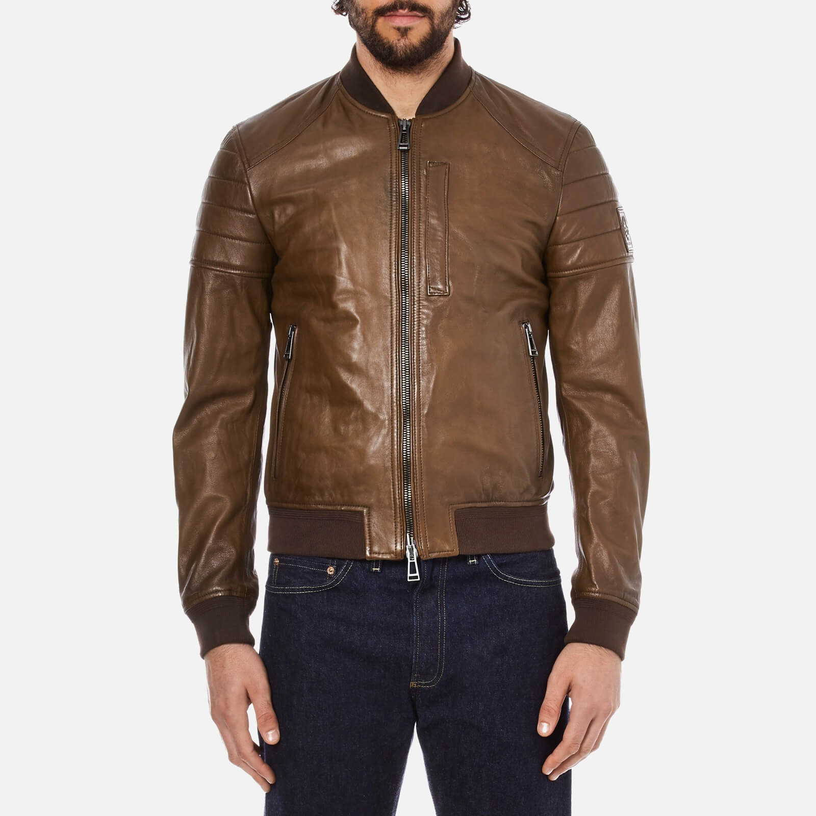 3aeff9f10a6 Belstaff Men's Stockdale Jacket - Oak Brown - Free UK Delivery over £50