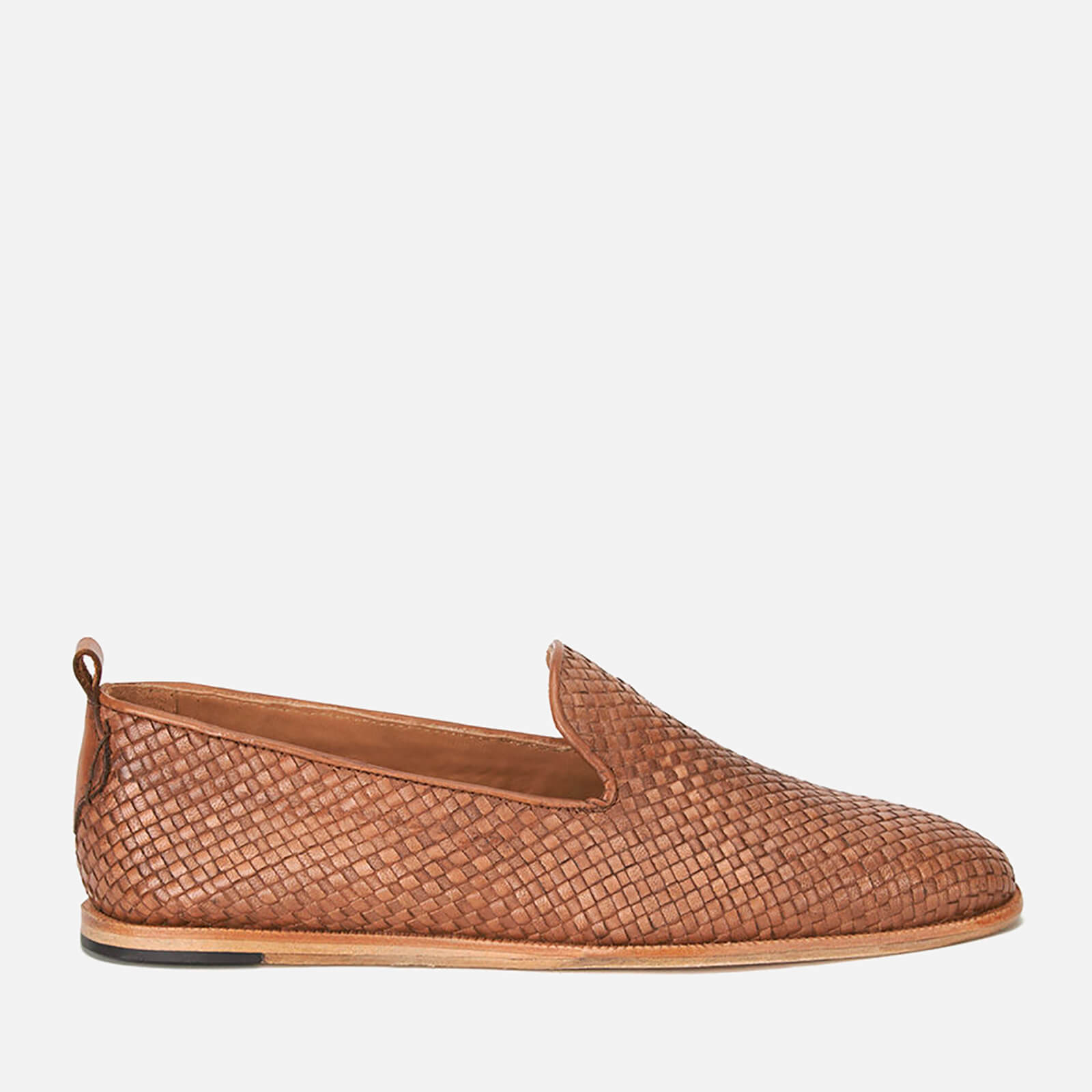 bbfd2ee4648ee7 Hudson London Men s Ipanema Weave Slip on Leather Shoes - Tan Clothing