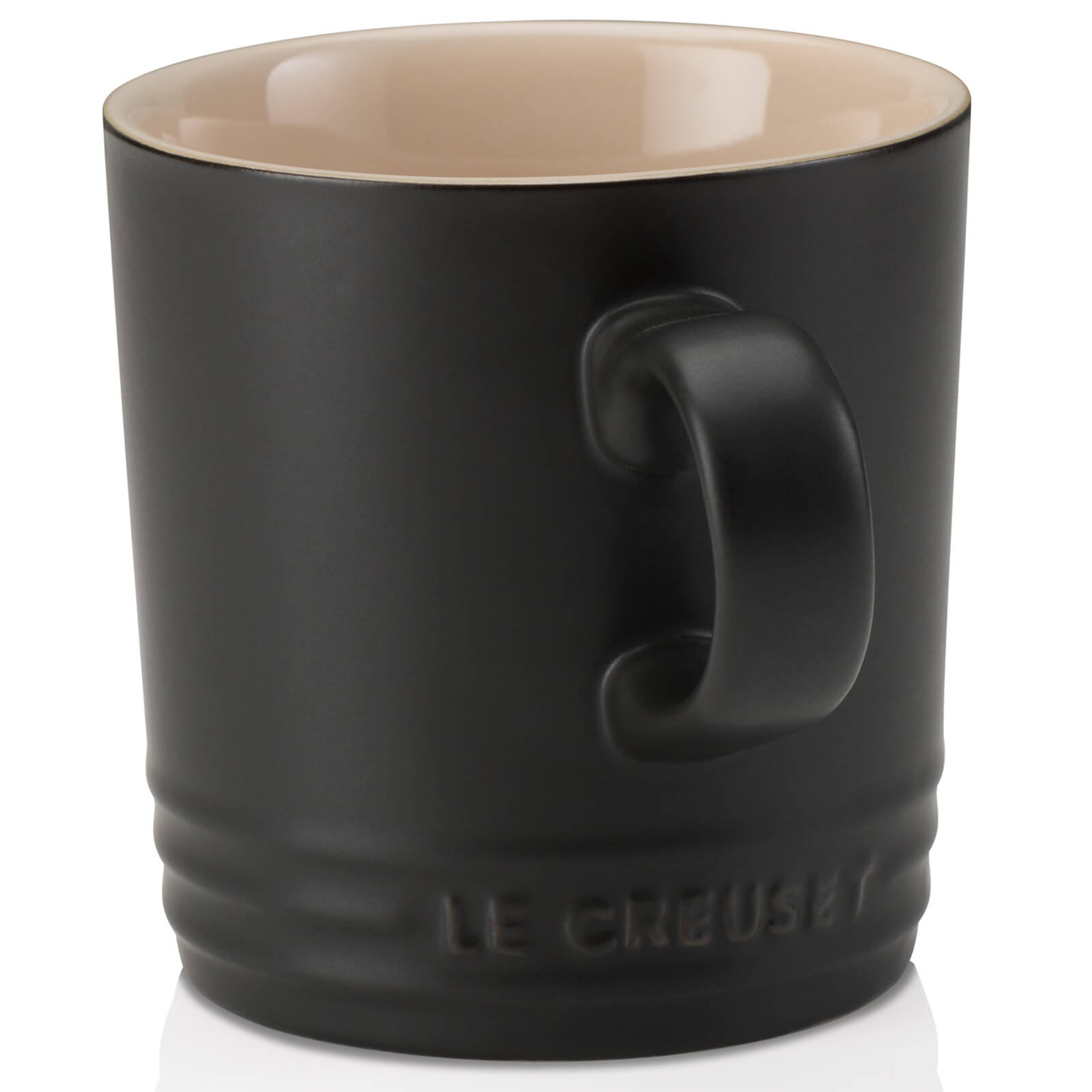 Le Creuset Stoneware Mug, 350ml - Satin Black