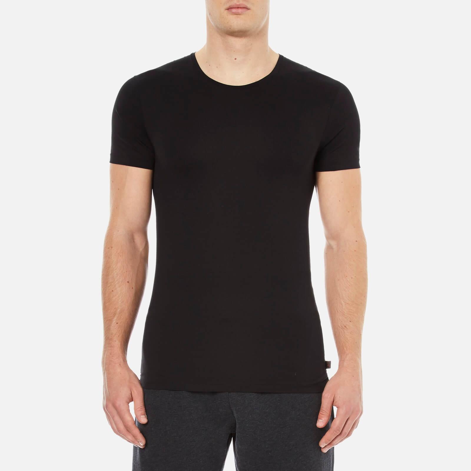 e5394964d Derek Rose Men s Jack 1 Crew Neck T-Shirt - Black - Free UK Delivery over  £50
