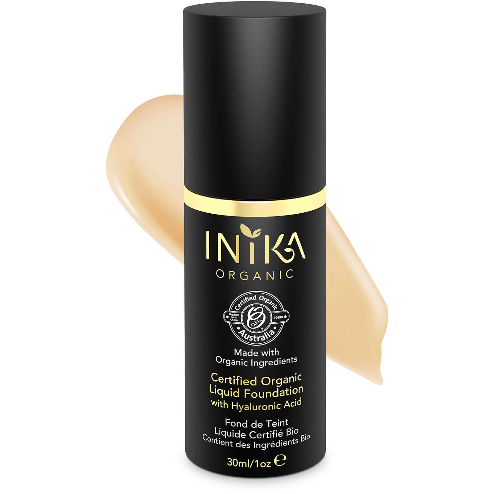 INIKA Certified Organic Liquid Mineral Foundation (Various Colours)