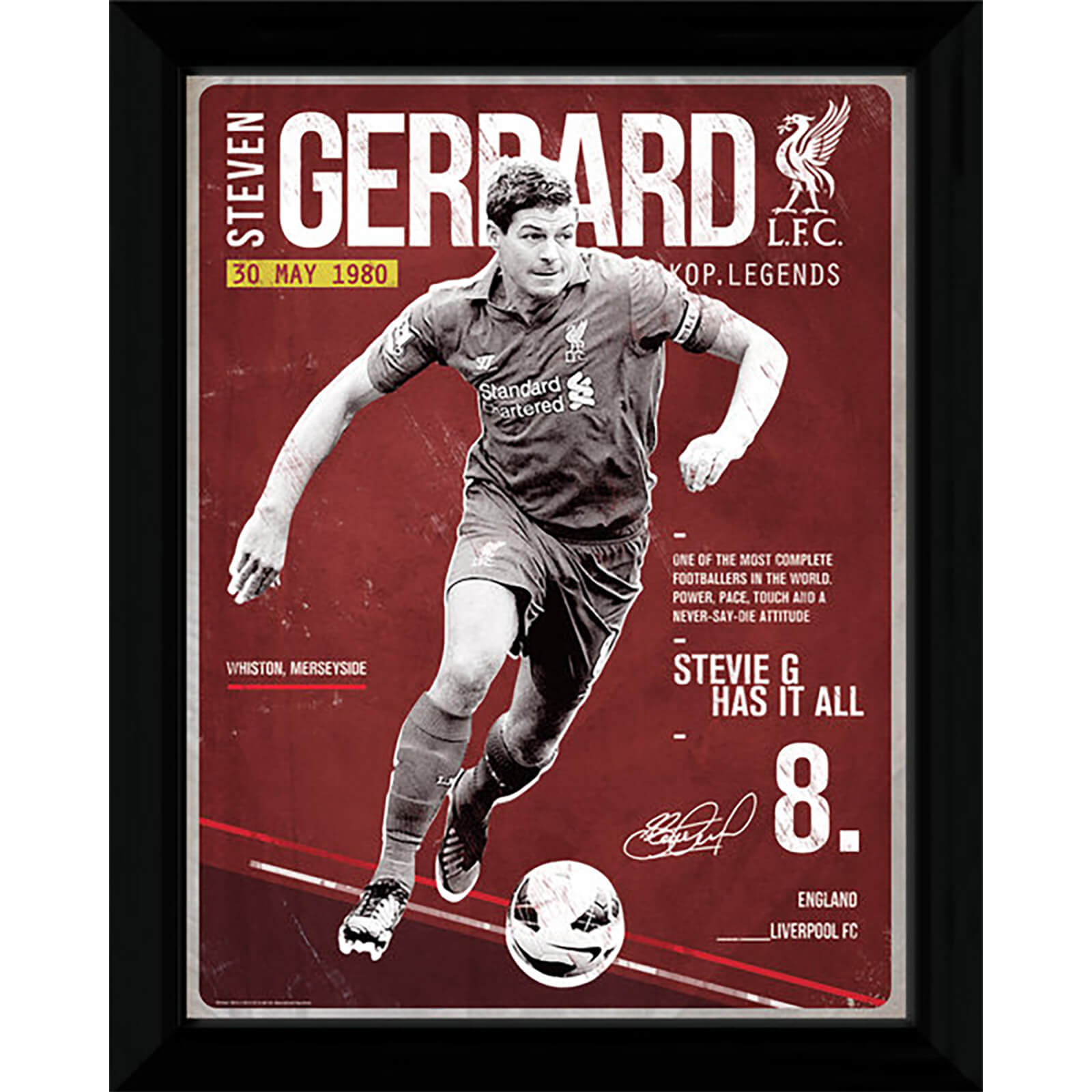 Liverpool Gerrard Retro - 16x12 Framed Photographic