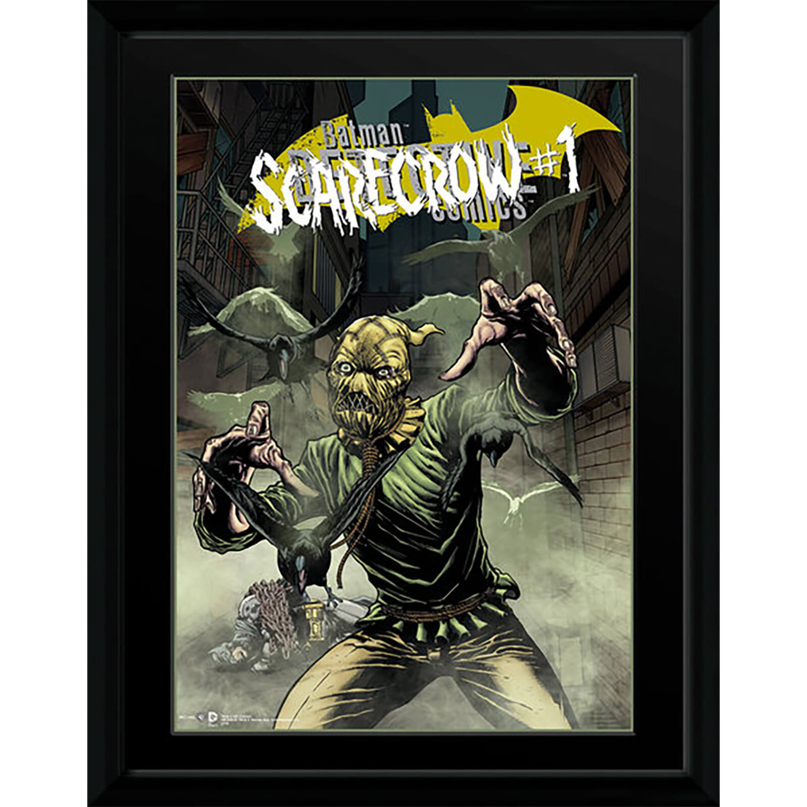 DC Comics Scarecrow Alley - 16 x 12 Framed Photgraphic