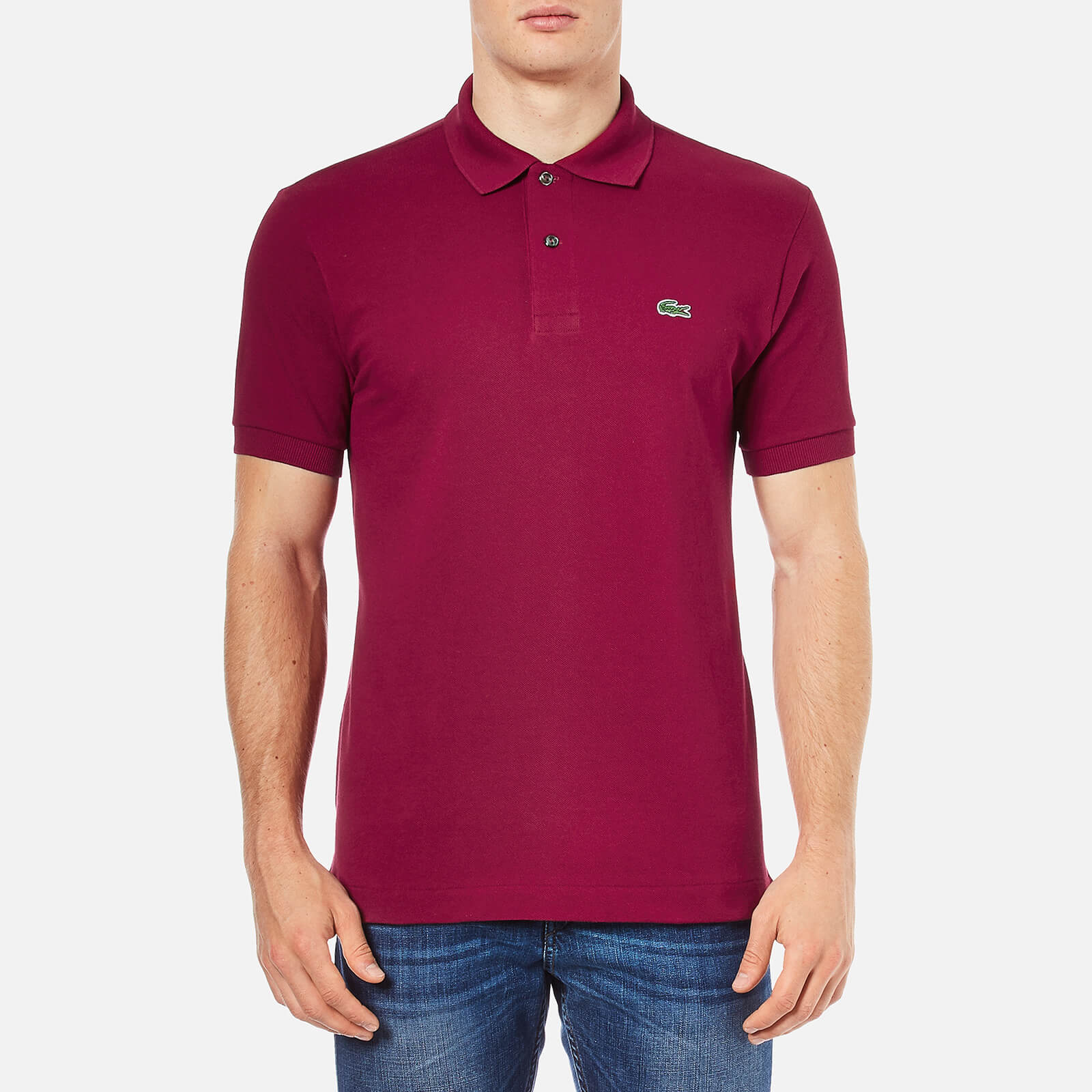 b1d58f875b Lacoste Men's Polo Shirt - Bordeaux Clothing | TheHut.com