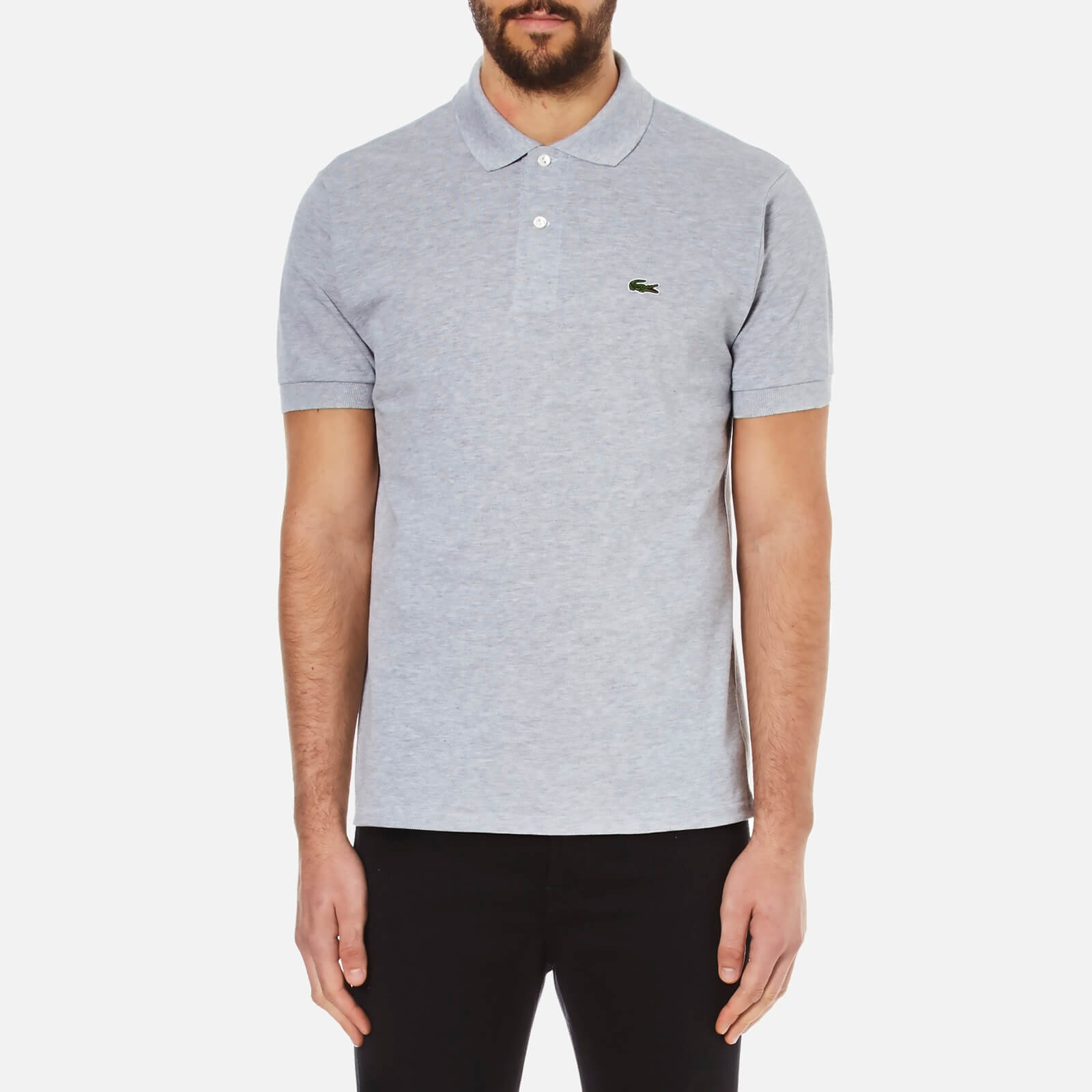 d3d94356b1 Lacoste Men's Classic Fit Marl Pique Polo Shirt - Silver Chine