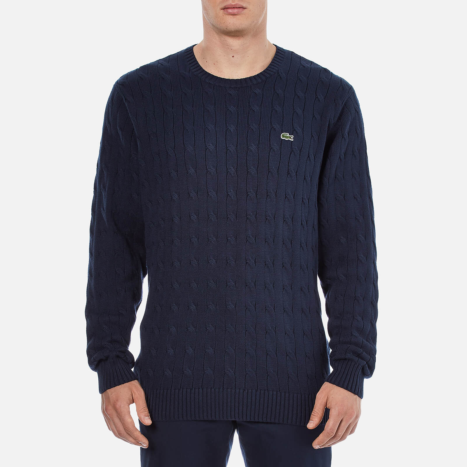 f75751c1c00 Lacoste Men's Cable Knitted Sweater - Navy