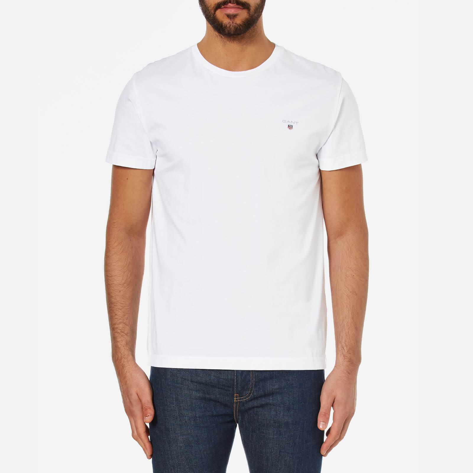 a62e0bfb992a21 GANT Men's Original Short Sleeve T-Shirt - White Clothing | TheHut.com