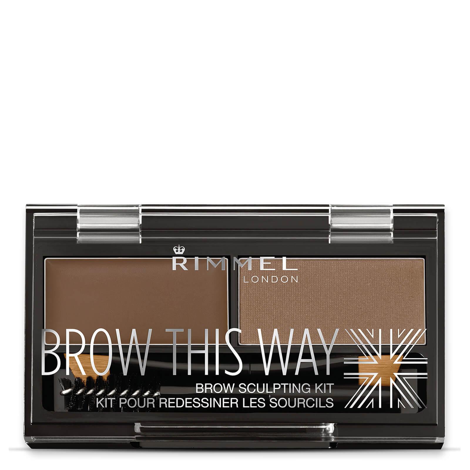 c9c85b2f4c4 Rimmel Brow This Way Eyebrow Kit - Medium Brown   Free Shipping    Lookfantastic