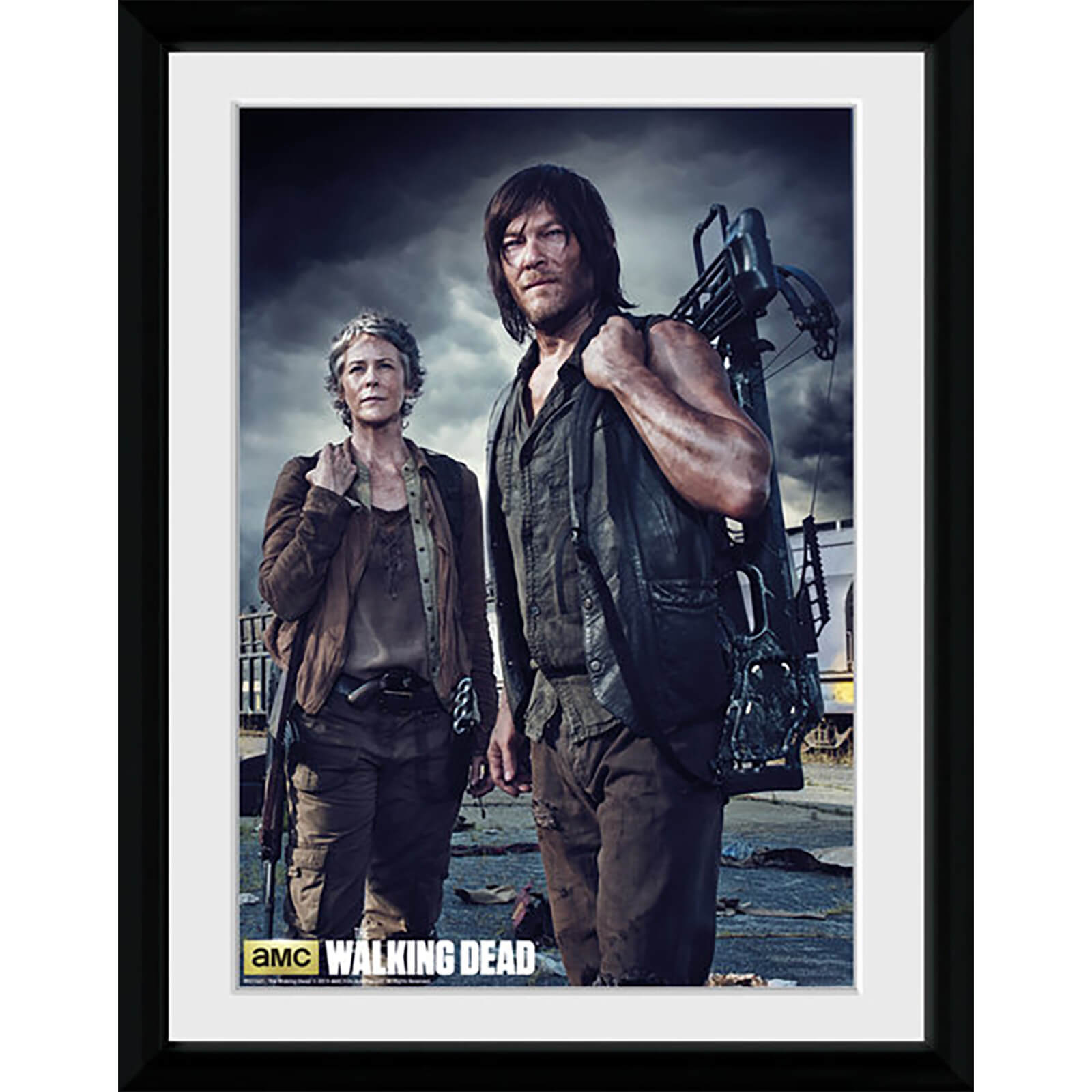 The Walking Dead Carol and Daryl - Framed Photographic - 16 x 12inch