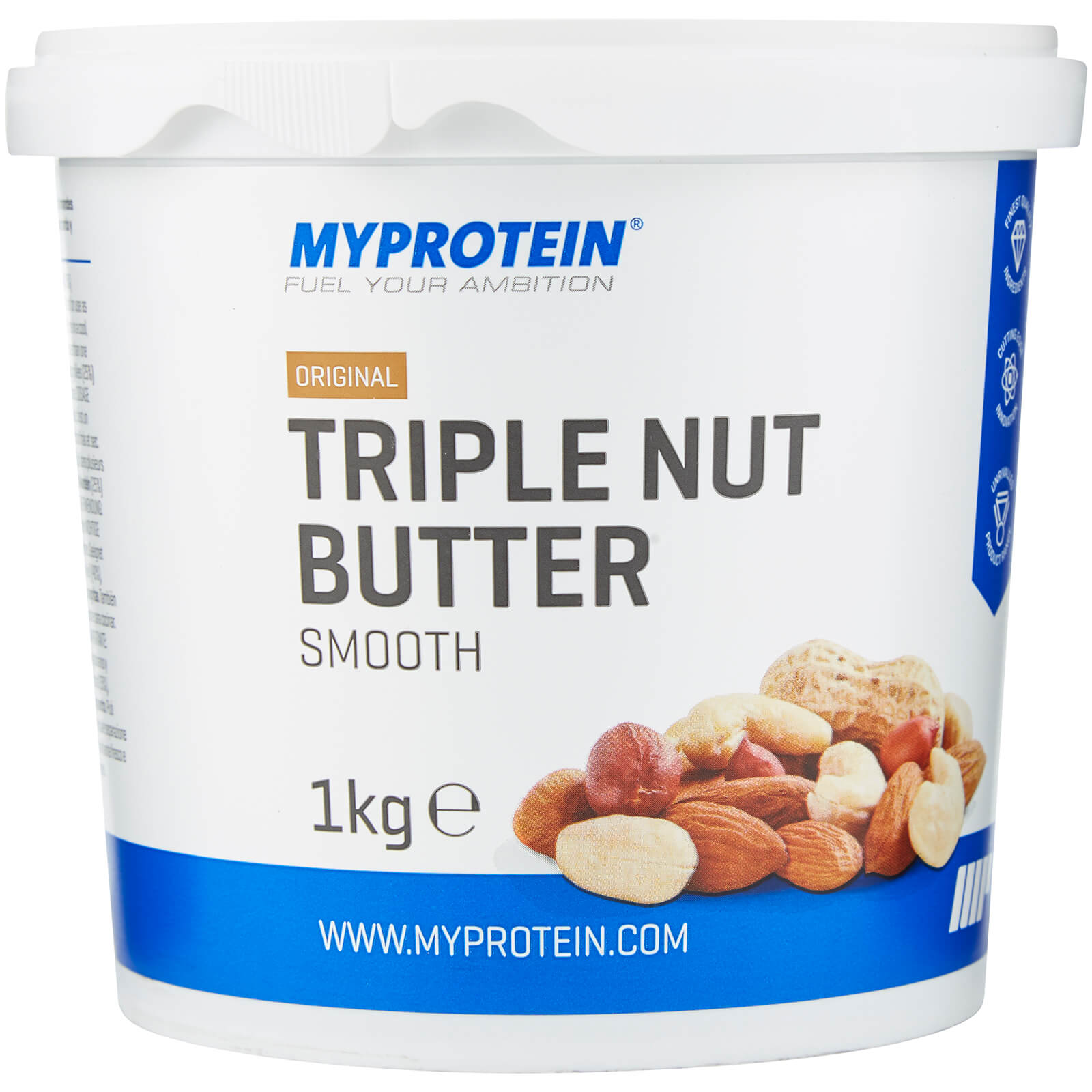 Mixed Nut Butter (Peanut, Cashew and Almond) - Unflavoured - 1kg