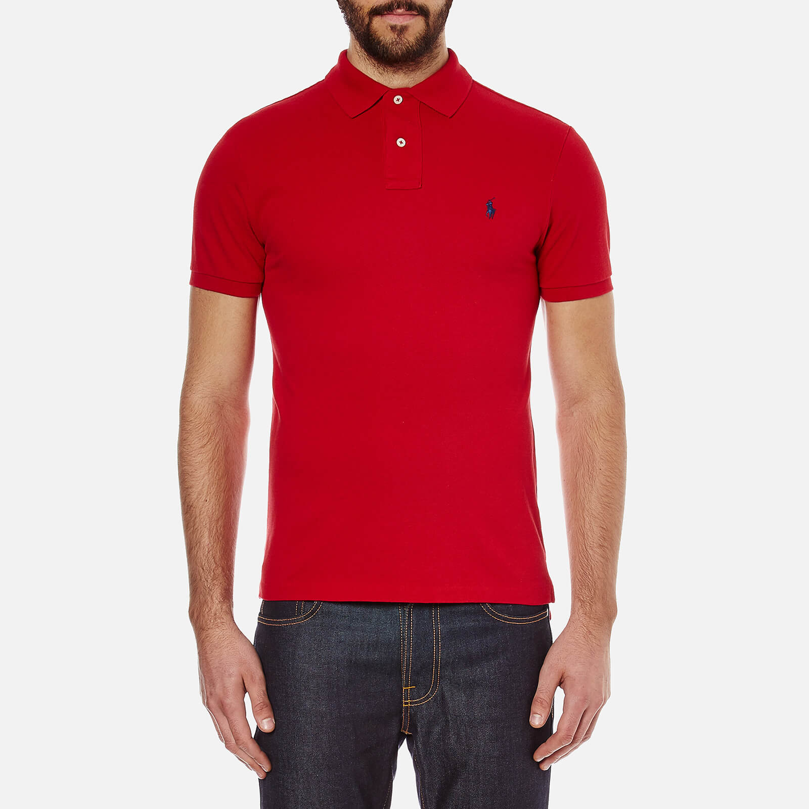 abcca818ebdb2 Polo Ralph Lauren Men s Slim Fit Polo Shirt - Red - Free UK Delivery over  £50