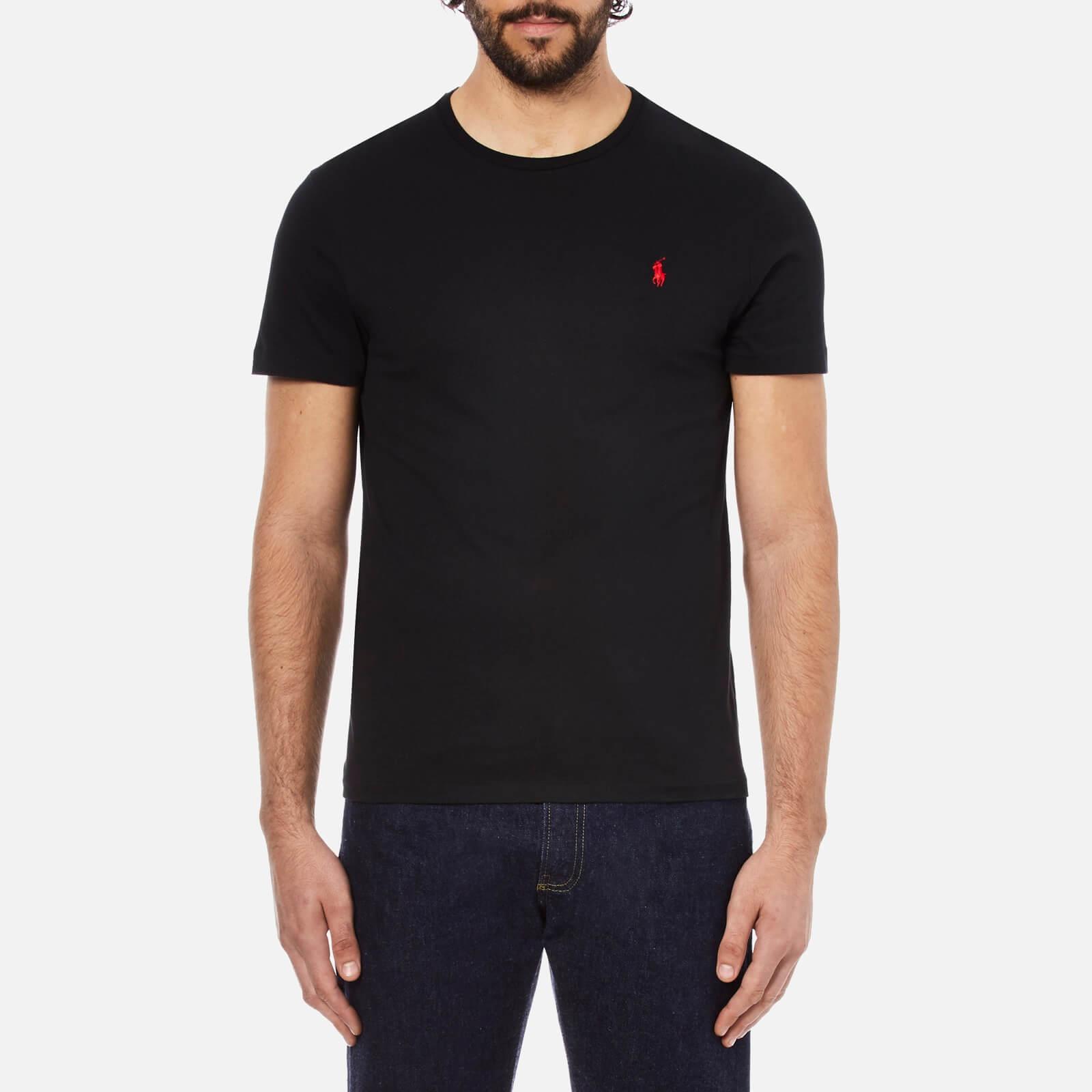 00220086 Polo Ralph Lauren Men's Short Sleeved Crew Neck T-Shirt - Rl Black - Free  UK Delivery over £50