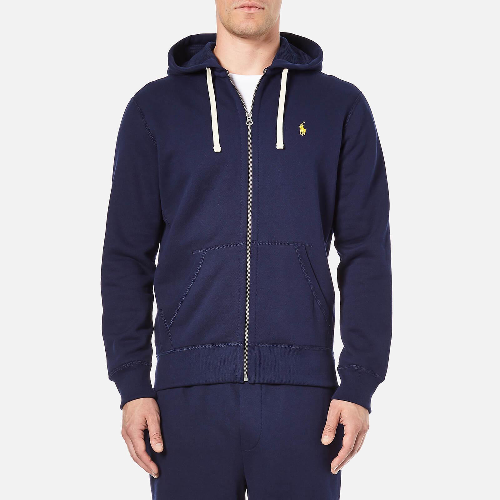 297486c899faa Polo Ralph Lauren Men s Zip Through Hooded Athletic Fleece - Cruise Navy -  Free UK Delivery over £50