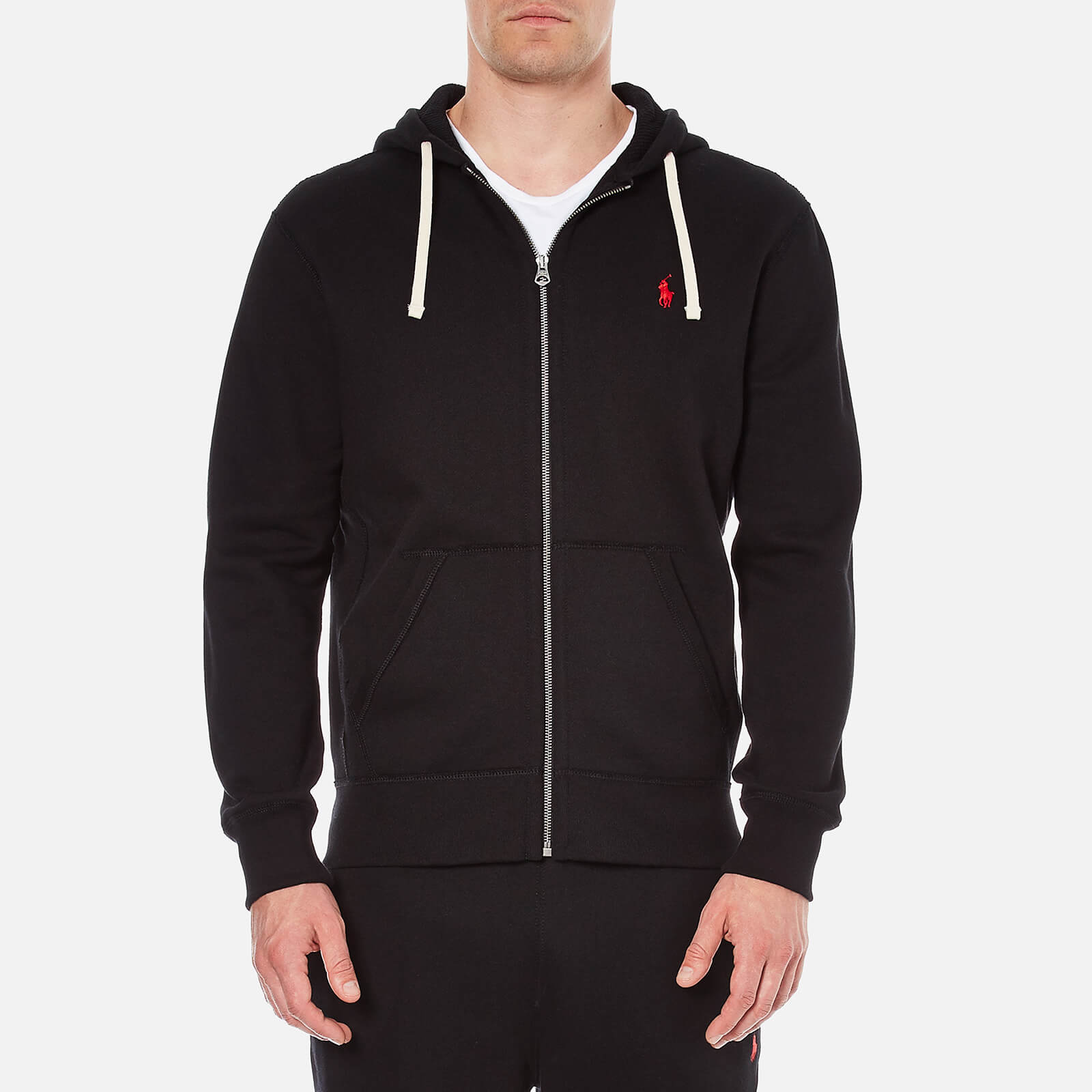 Hooded Fleece Polo Ralph Black Zip Athletic Through Lauren Men's vn8yNP0wOm