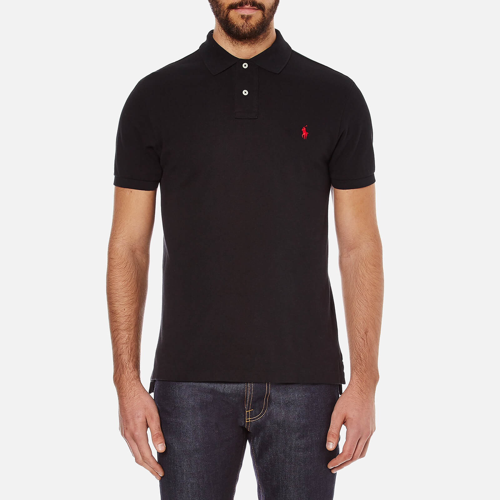 a5d6dd94564 Polo Ralph Lauren Men s Slim Fit Short Sleeved Polo Shirt - Polo Black -  Free UK Delivery over £50