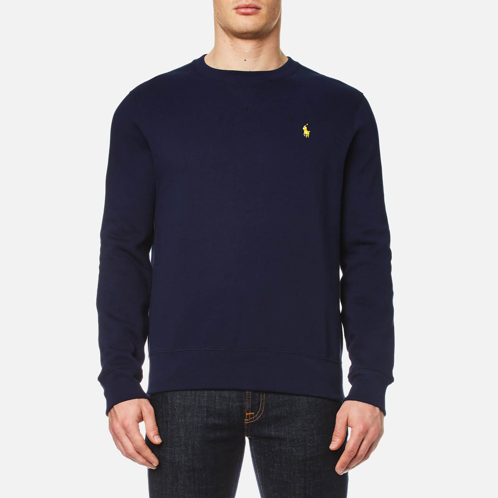 ba3fecab9 Polo Ralph Lauren Men s Long Sleeve Crew Neck Sweatshirt - Cruise Navy -  Free UK Delivery over £50