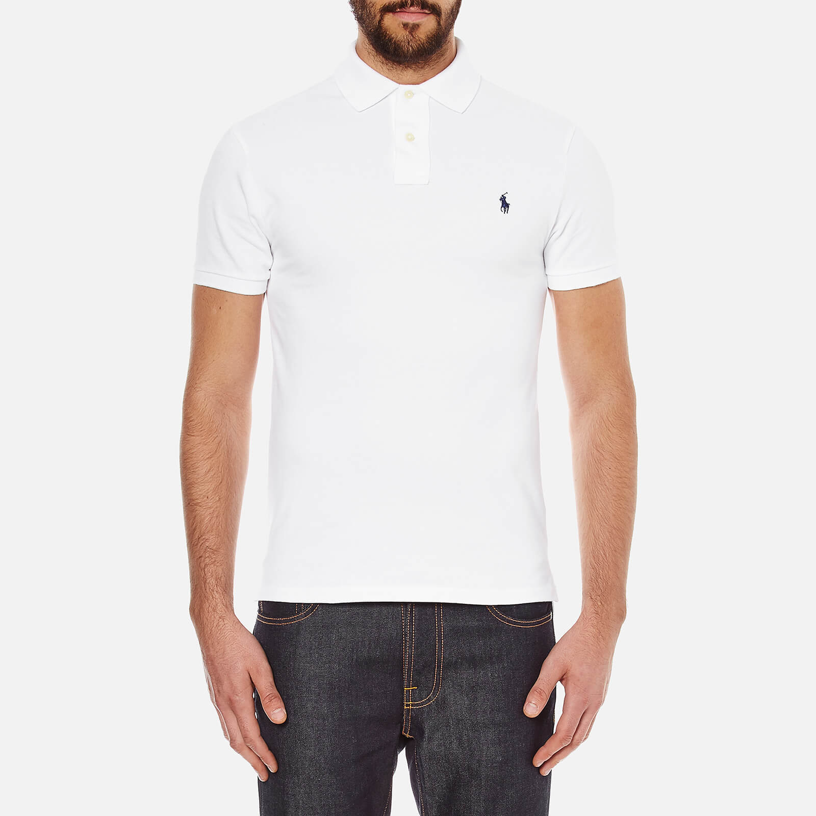 a7d8199c61674 Polo Ralph Lauren Men s Slim Fit Polo Shirt - White - Free UK Delivery over  £50