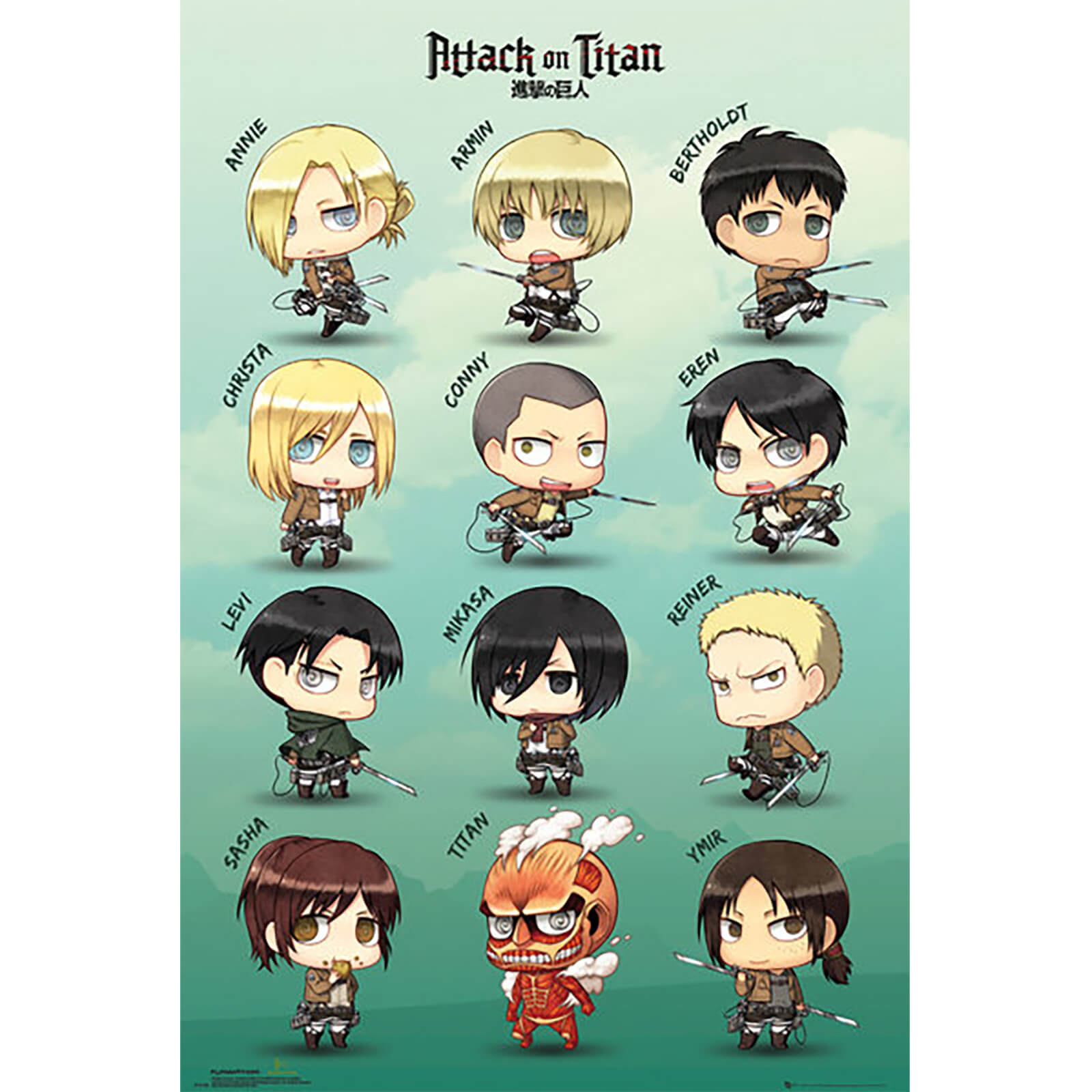 Attack on Titan Chibi Characters - Maxi Poster - 61 x 91.5cm