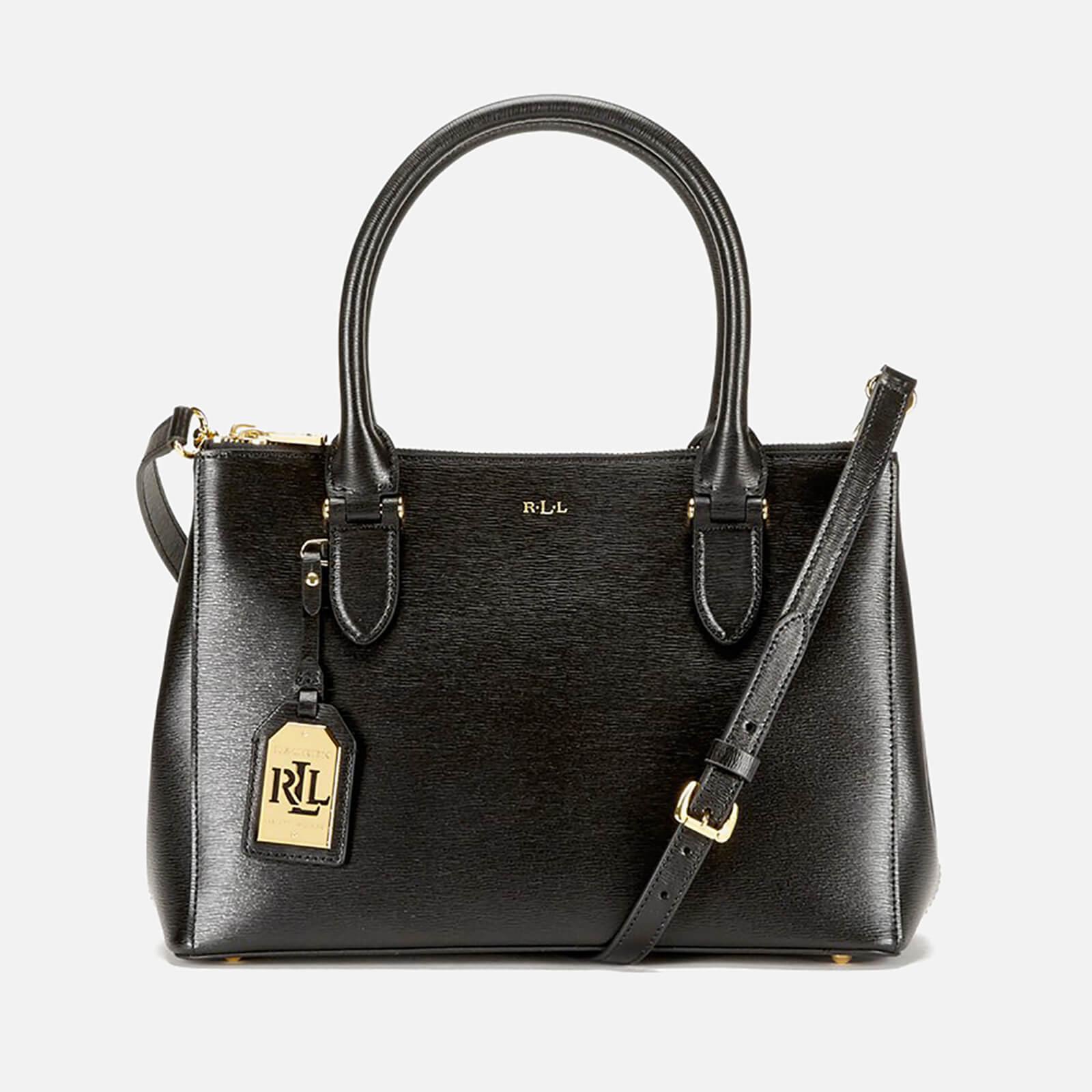 Aika siistiä tulokas Aika siistiä Lauren Ralph Lauren Women's Newbury Double Zipper Shopper Bag - Black