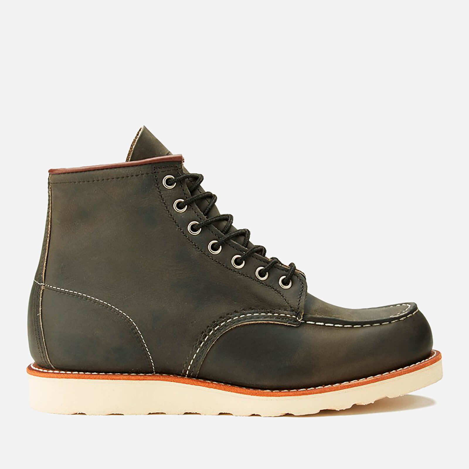 b1b746ff8b52 Red Wing Men s 6 Inch Moc Toe Leather Lace Up Boots - Charcoal Rough and  Tough - Free UK Delivery over £50