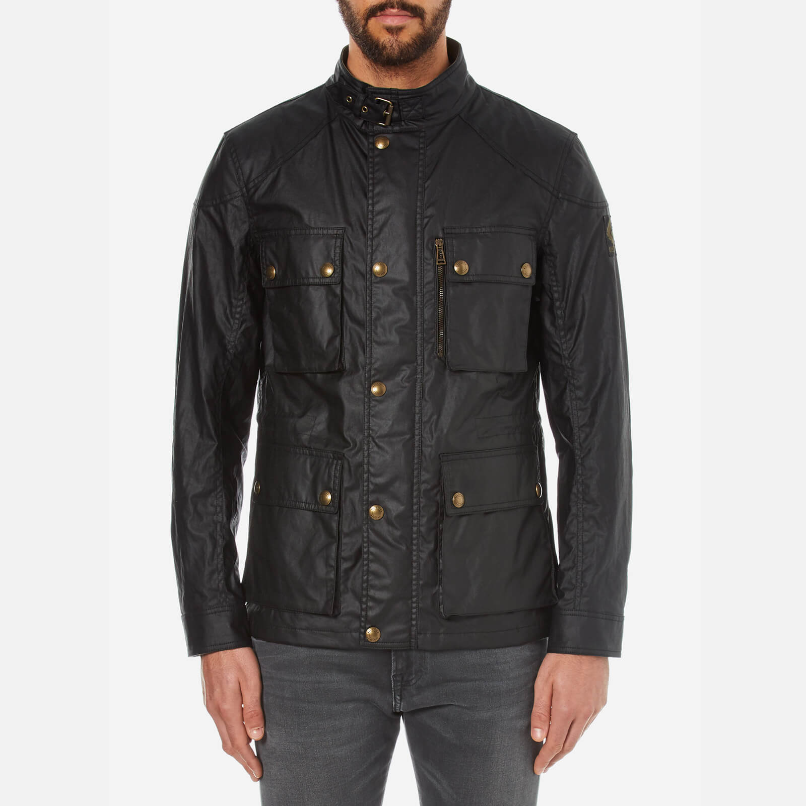 8dc22e651b Belstaff Men's Trialmaster Jacket - Black - Free UK Delivery over £50