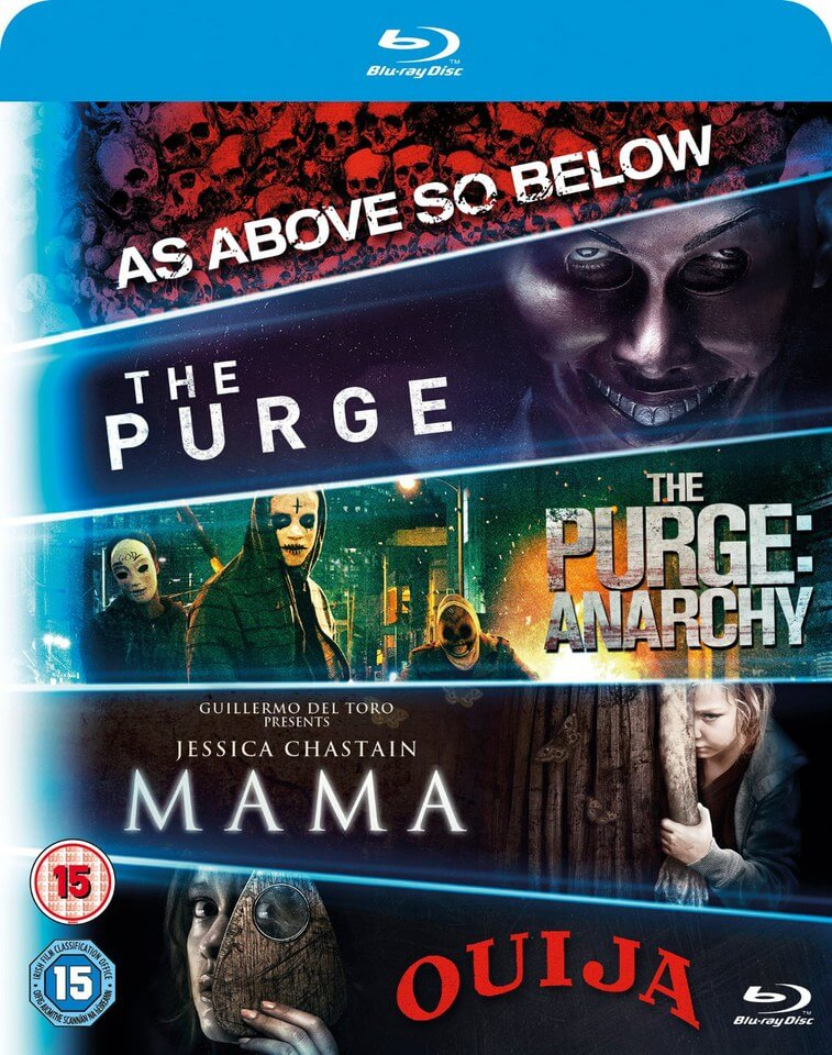 Blu-ray Starter Pack - Includues Mama, Purge 1, Purge: Anarchy, OUIJA, As Above, So Below