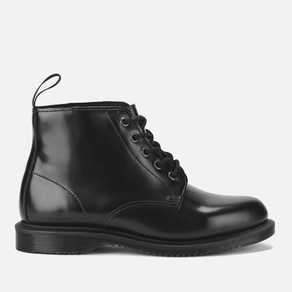 Dr. Martens Women's Emmeline Polished Smooth Leather 5-Eye Boots - Black - UK 8 - Black