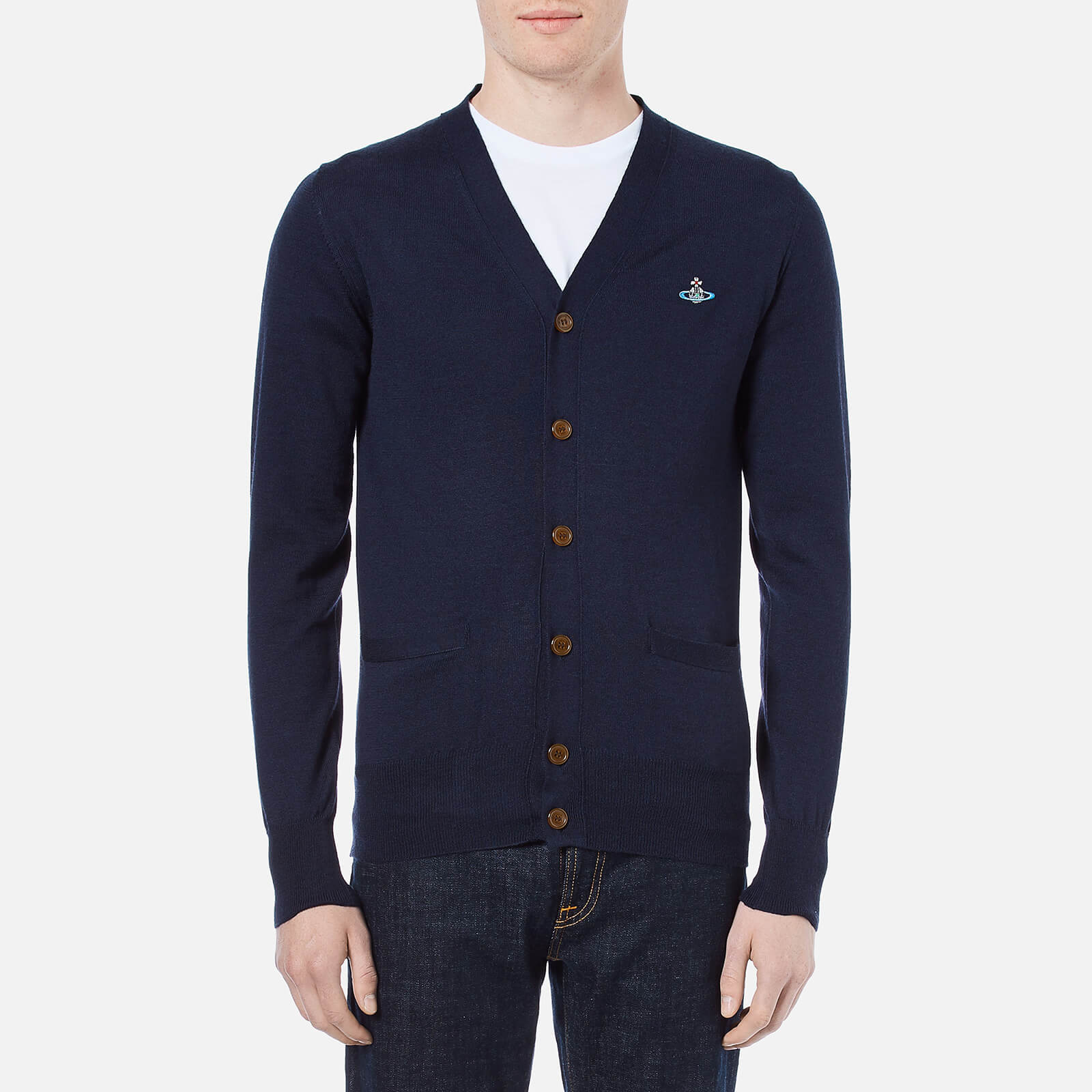5a8e723be32 Vivienne Westwood Men's Classic Knitted Cardigan - Navy